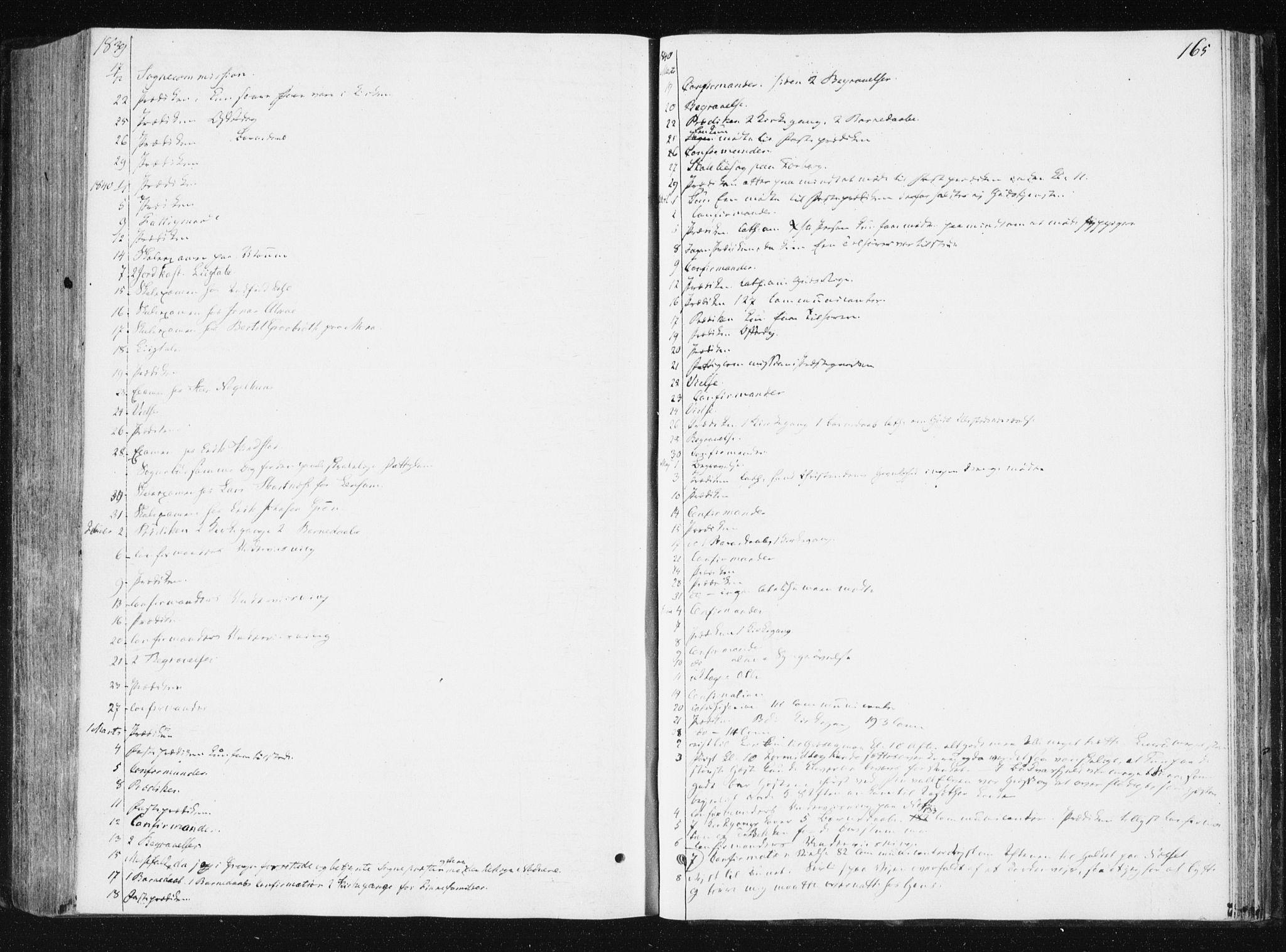 SAT, Ministerialprotokoller, klokkerbøker og fødselsregistre - Nord-Trøndelag, 749/L0470: Ministerialbok nr. 749A04, 1834-1853, s. 165