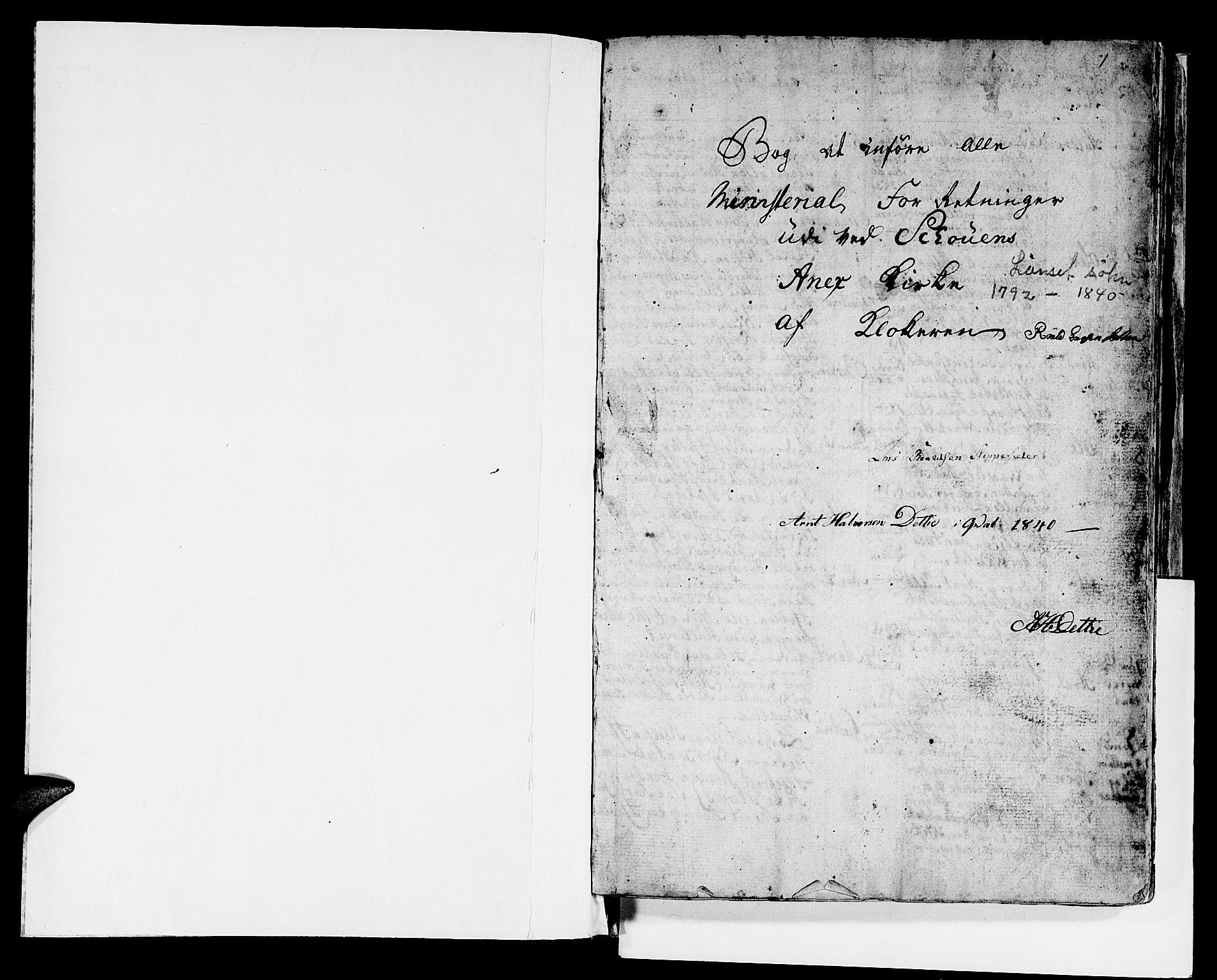 SAT, Ministerialprotokoller, klokkerbøker og fødselsregistre - Sør-Trøndelag, 679/L0921: Klokkerbok nr. 679C01, 1792-1840, s. 1