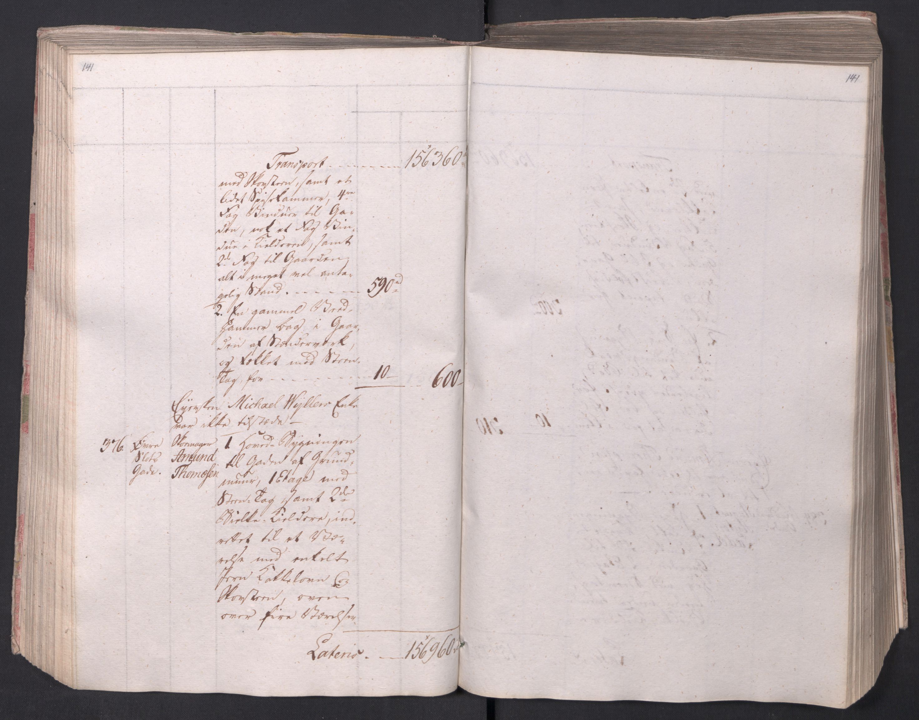 SAO, Kristiania stiftamt, I/Ia/L0015: Branntakster, 1797, s. 141