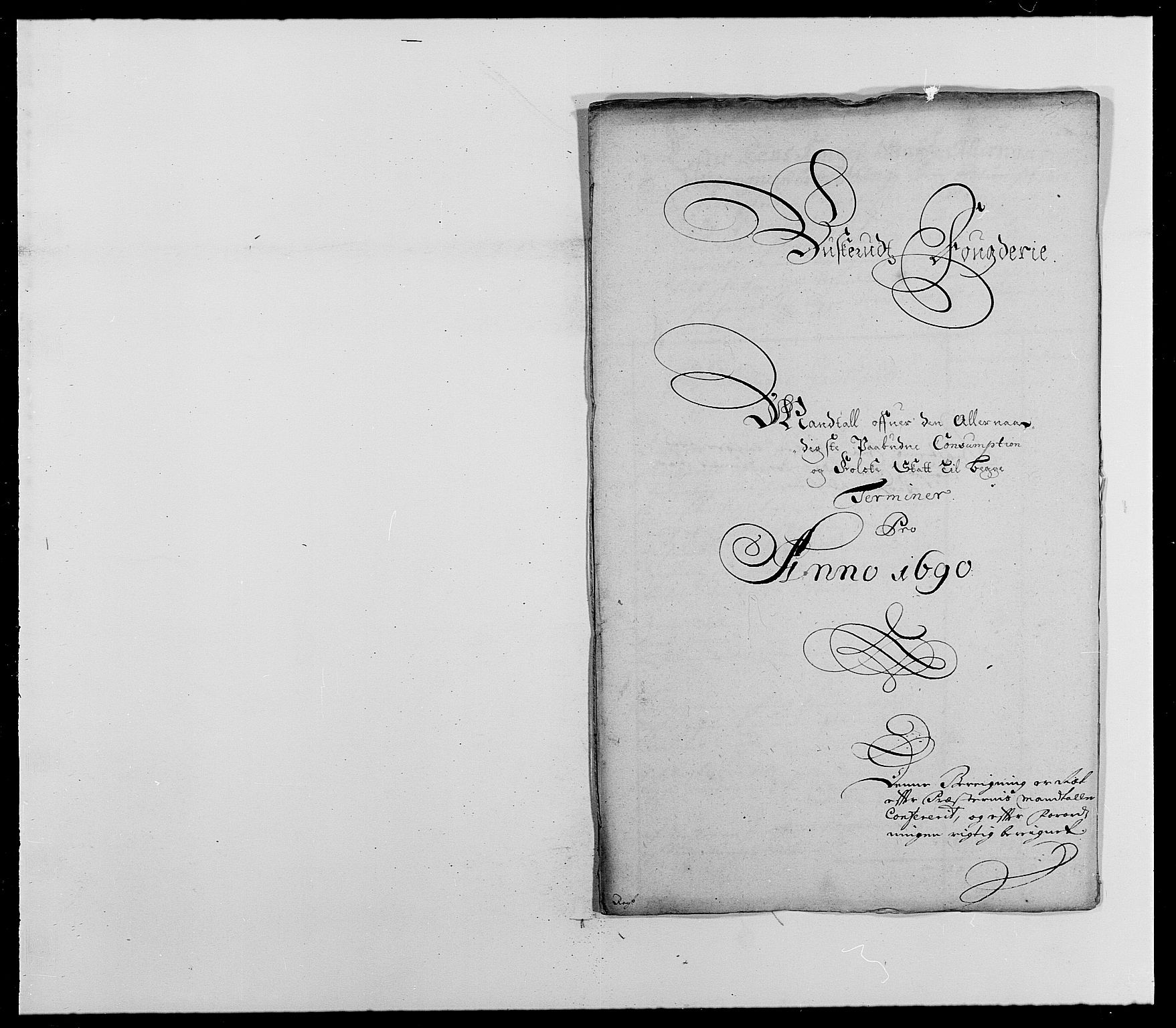 RA, Rentekammeret inntil 1814, Reviderte regnskaper, Fogderegnskap, R25/L1680: Fogderegnskap Buskerud, 1689-1690, s. 429