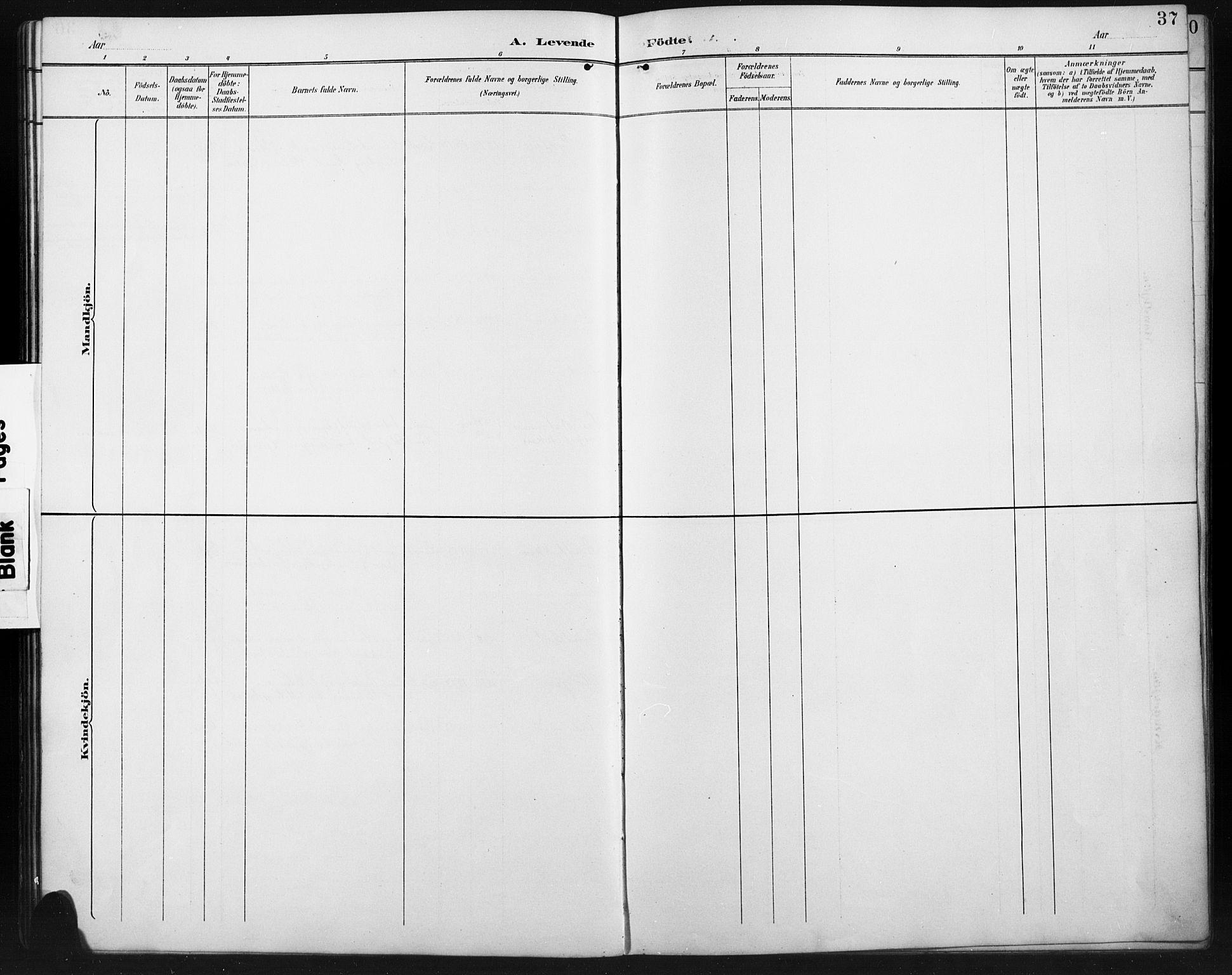 SAH, Ringebu prestekontor, Klokkerbok nr. 8, 1890-1922, s. 37