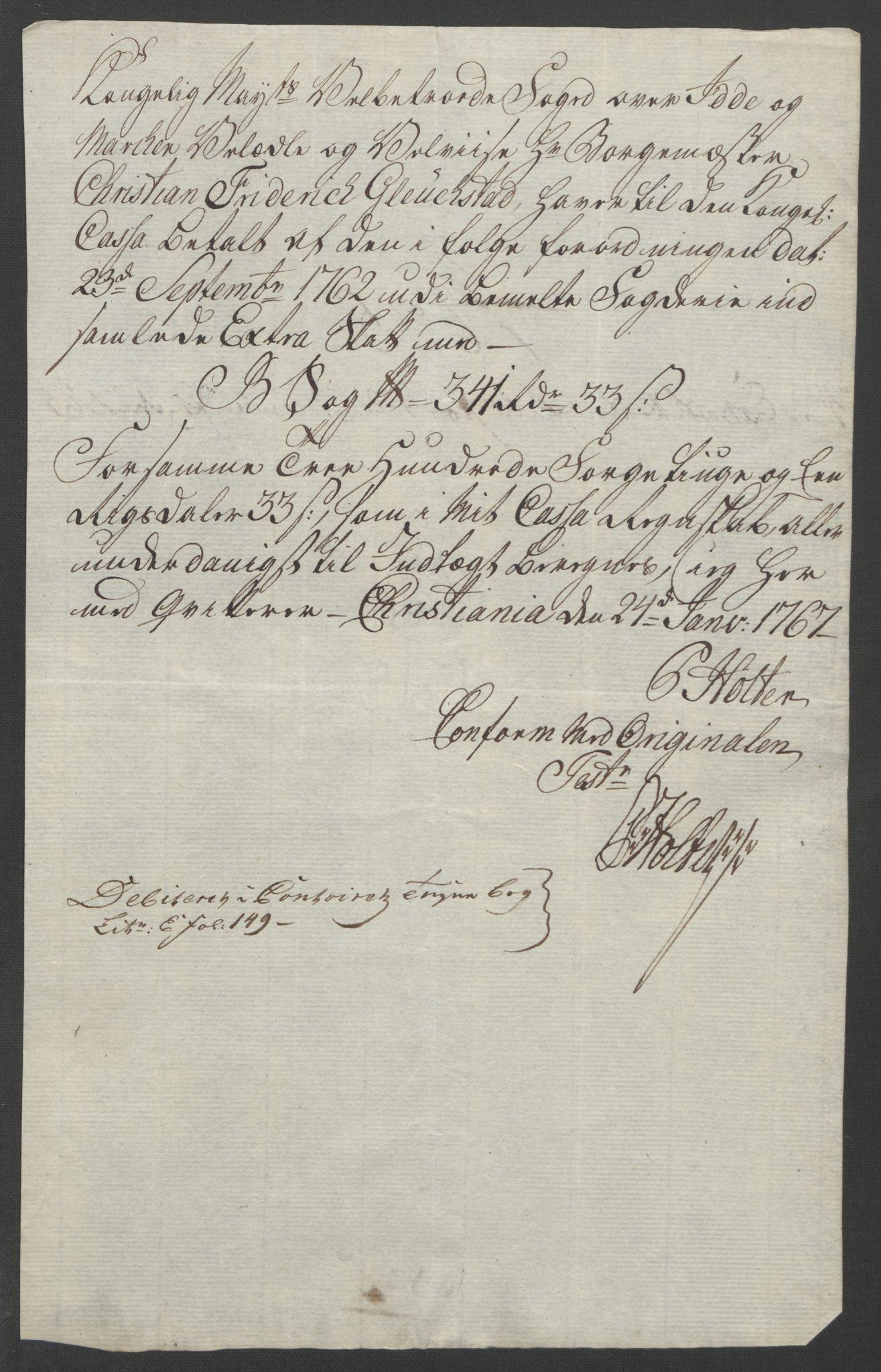 RA, Rentekammeret inntil 1814, Reviderte regnskaper, Fogderegnskap, R01/L0097: Ekstraskatten Idd og Marker, 1756-1767, s. 272