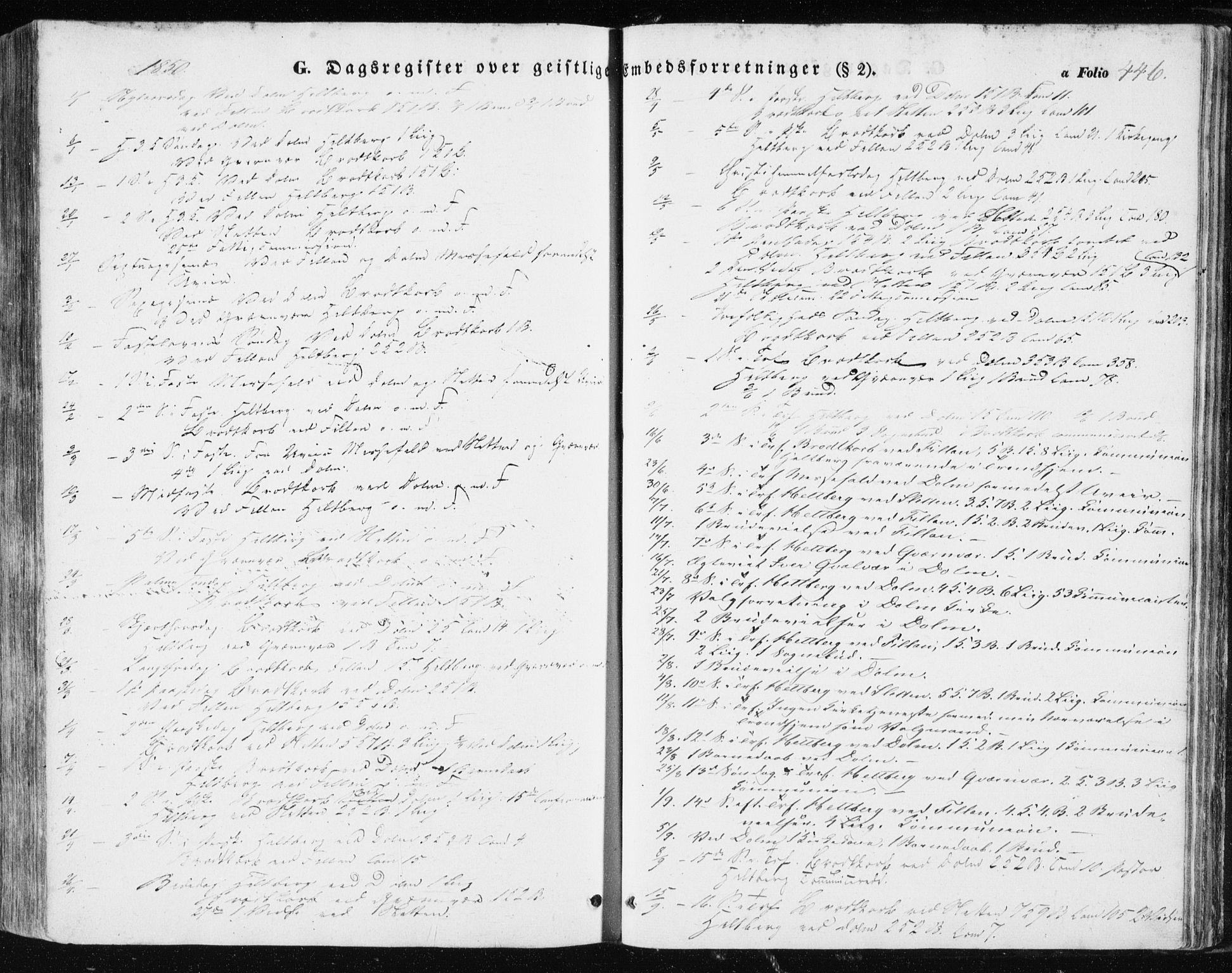 SAT, Ministerialprotokoller, klokkerbøker og fødselsregistre - Sør-Trøndelag, 634/L0529: Ministerialbok nr. 634A05, 1843-1851, s. 446