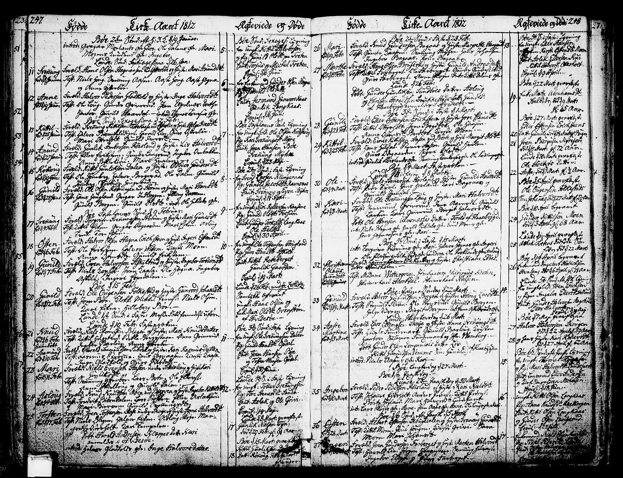 SAKO, Bø kirkebøker, F/Fa/L0005: Ministerialbok nr. 5, 1785-1815, s. 247-248