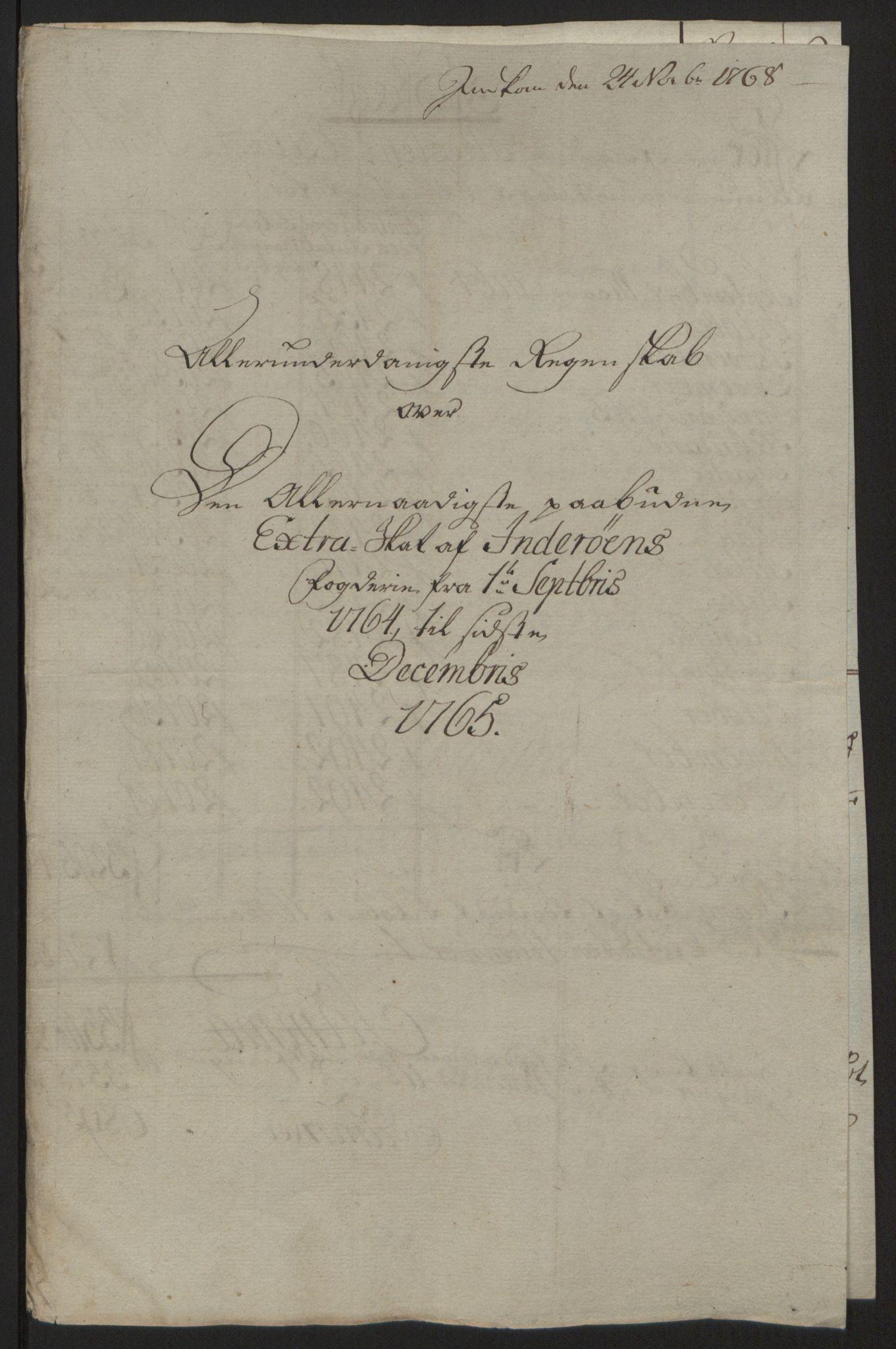 RA, Rentekammeret inntil 1814, Reviderte regnskaper, Fogderegnskap, R63/L4420: Ekstraskatten Inderøy, 1762-1772, s. 168