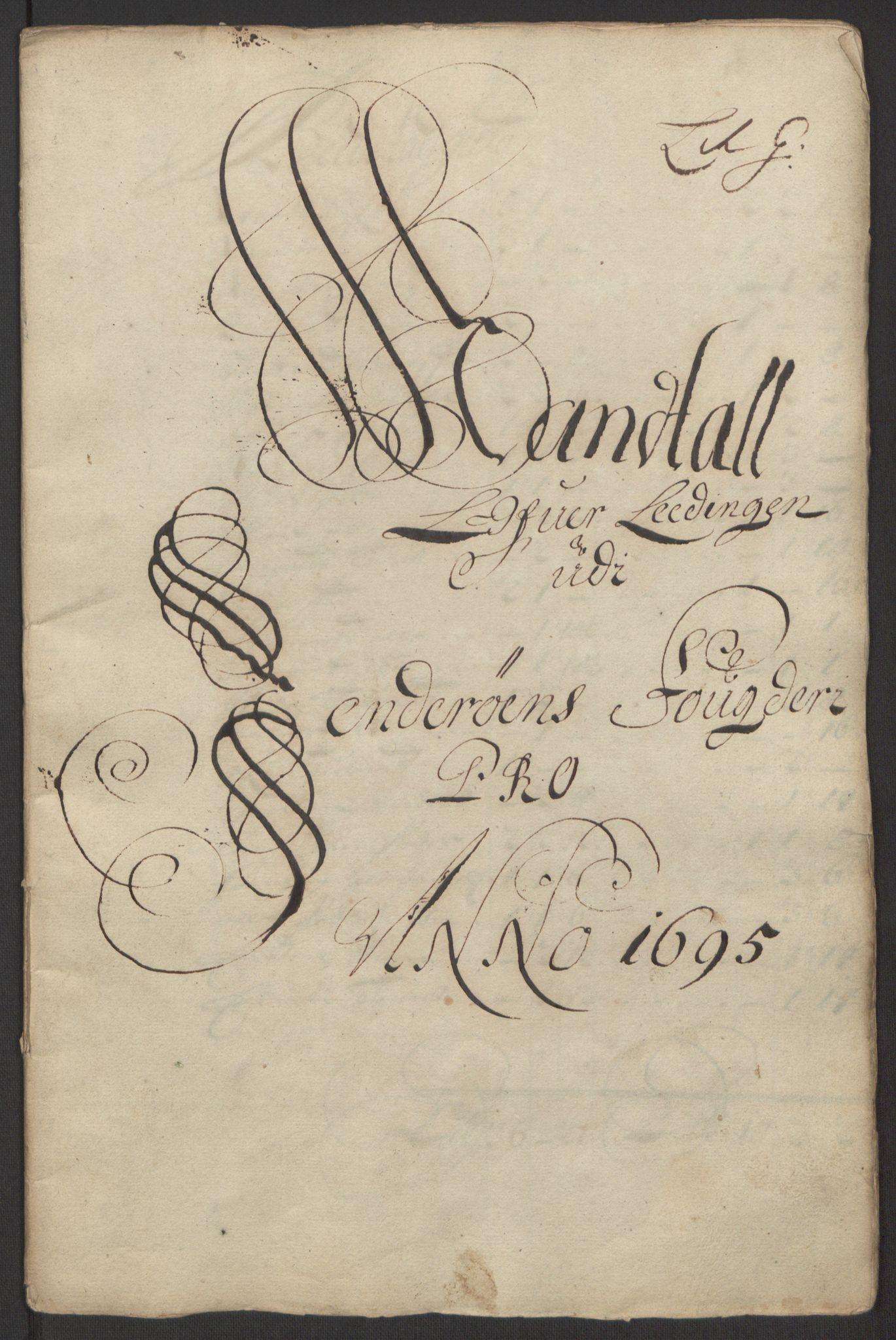 RA, Rentekammeret inntil 1814, Reviderte regnskaper, Fogderegnskap, R63/L4309: Fogderegnskap Inderøy, 1695-1697, s. 55