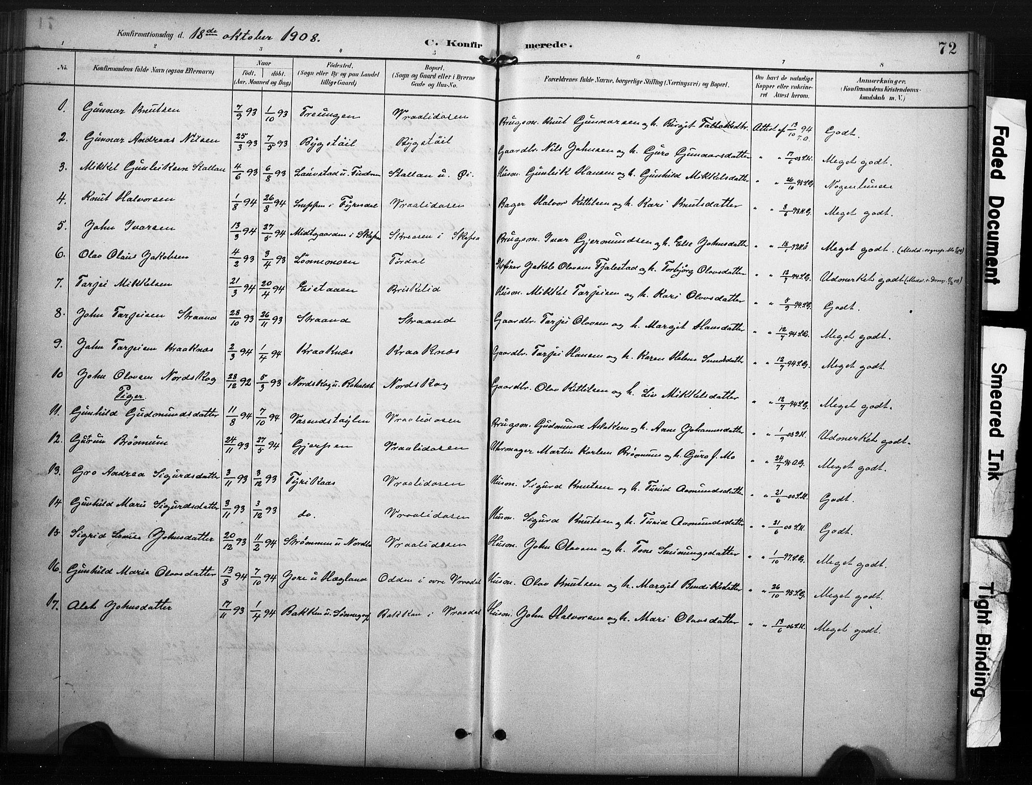 SAKO, Kviteseid kirkebøker, F/Fc/L0002: Ministerialbok nr. III 2, 1882-1908, s. 72
