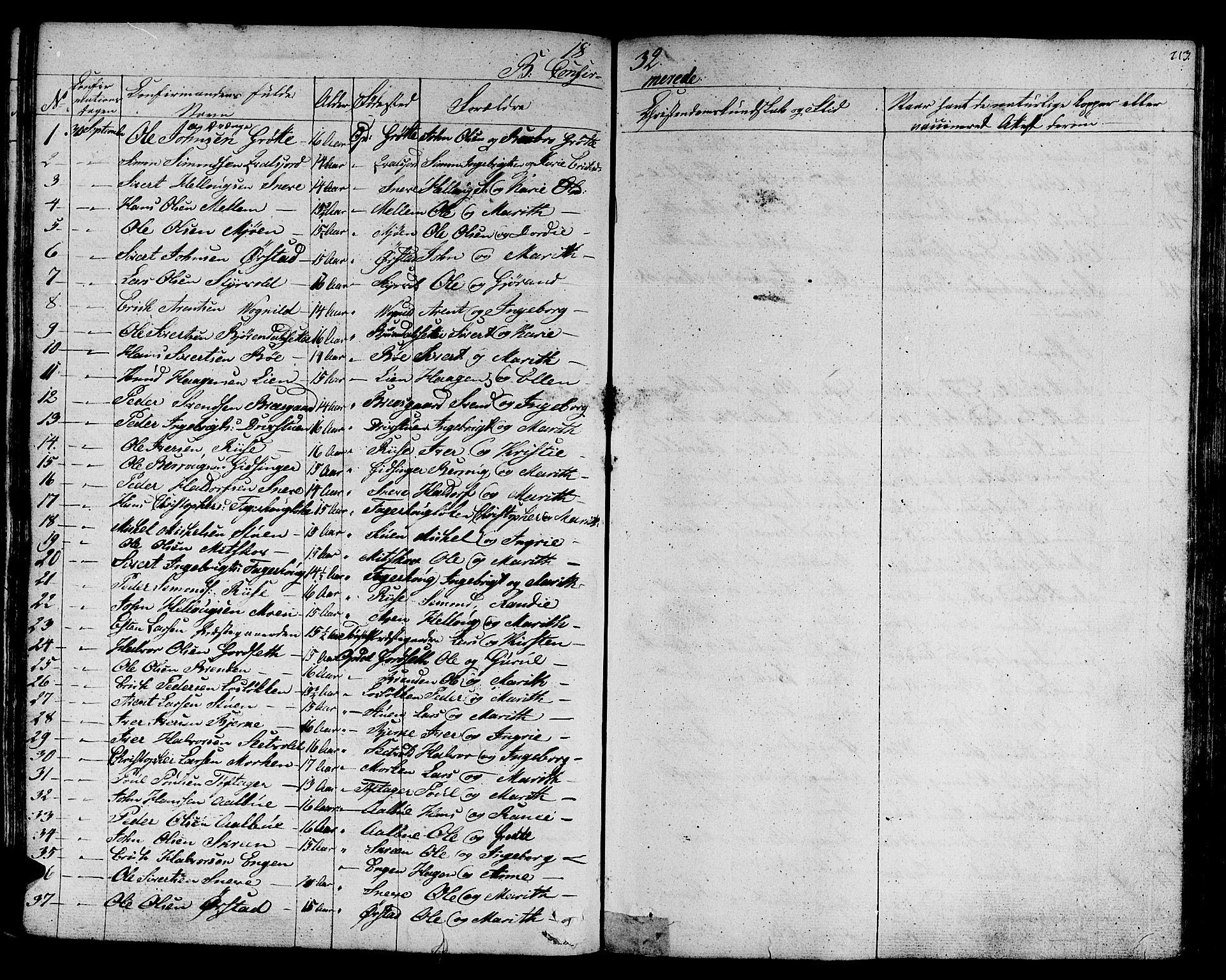 SAT, Ministerialprotokoller, klokkerbøker og fødselsregistre - Sør-Trøndelag, 678/L0897: Ministerialbok nr. 678A06-07, 1821-1847, s. 213