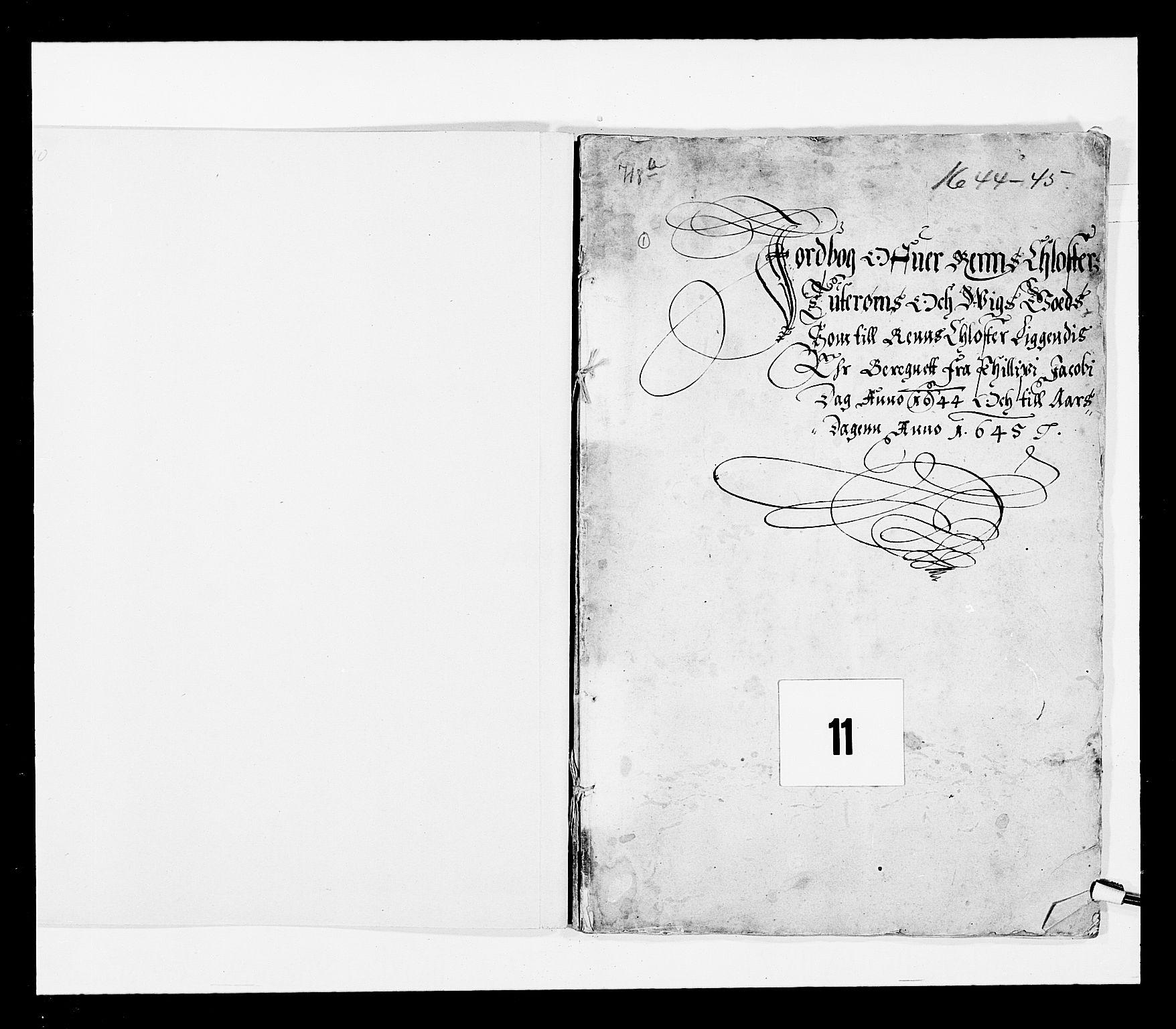 RA, Stattholderembetet 1572-1771, Ek/L0027: Jordebøker 1633-1658:, 1644-1645, s. 2