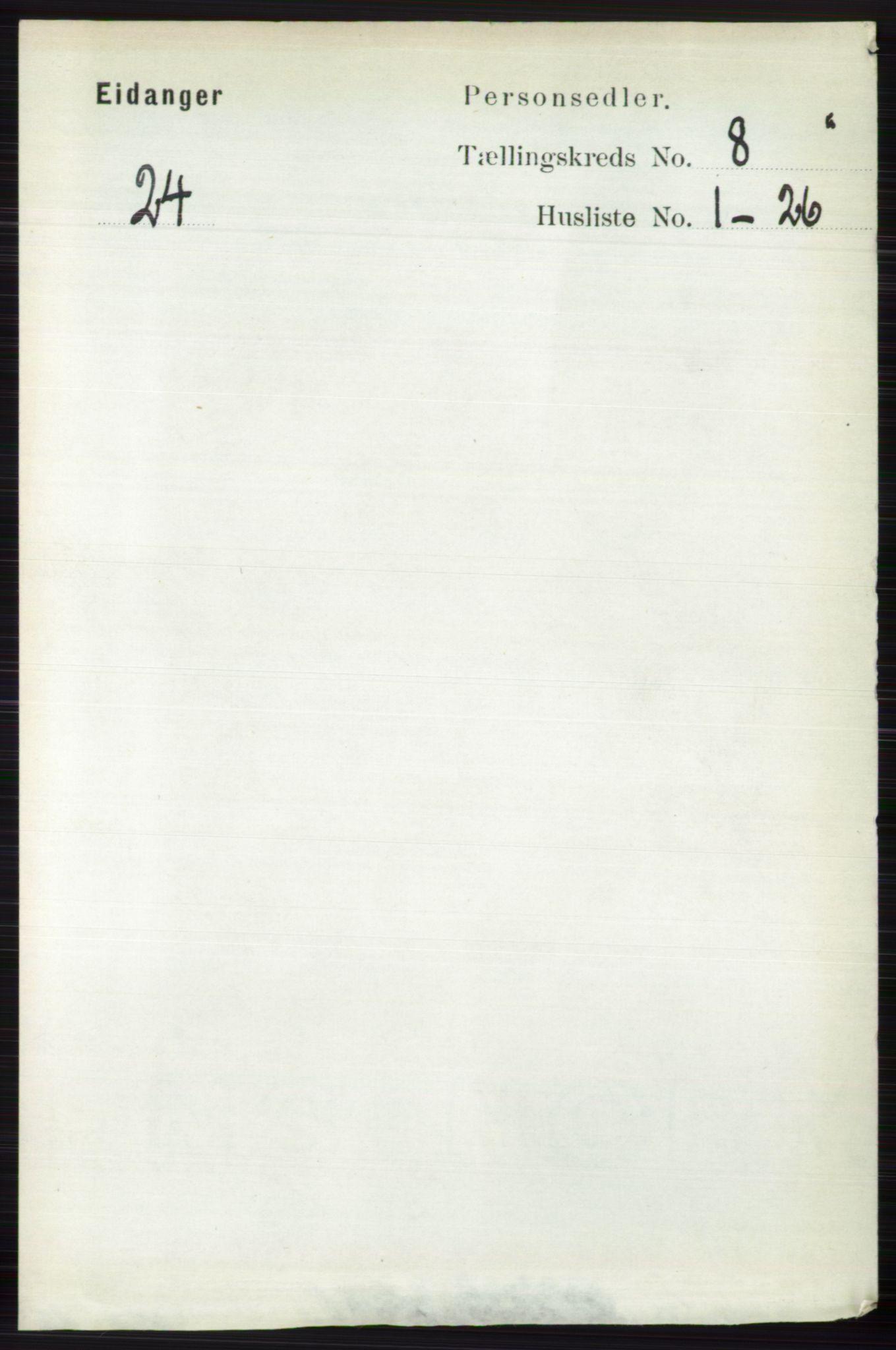 RA, Folketelling 1891 for 0813 Eidanger herred, 1891, s. 2986
