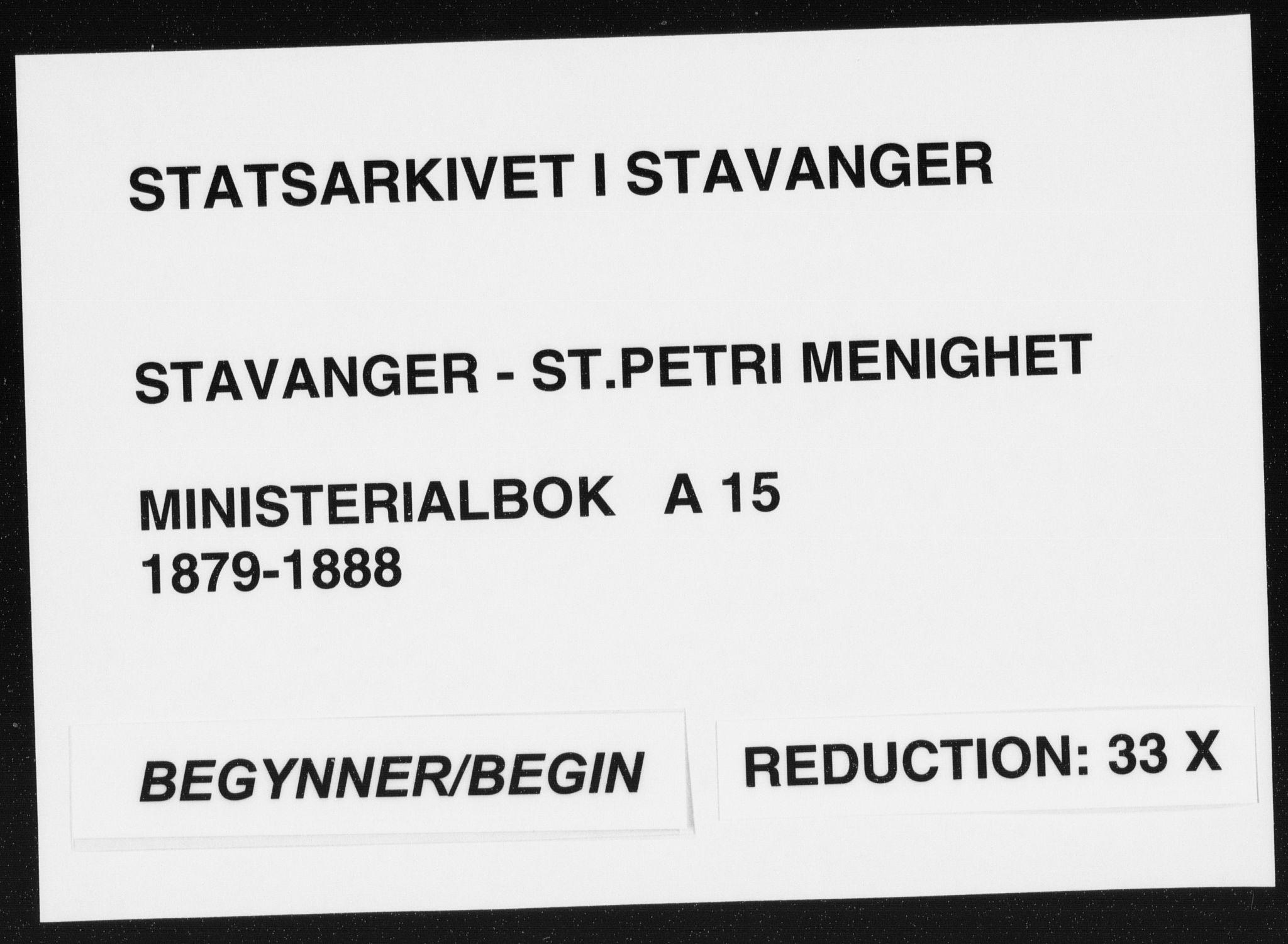 SAST, St. Petri sokneprestkontor, 30/30BA/L0015: Ministerialbok nr. A 15, 1879-1888