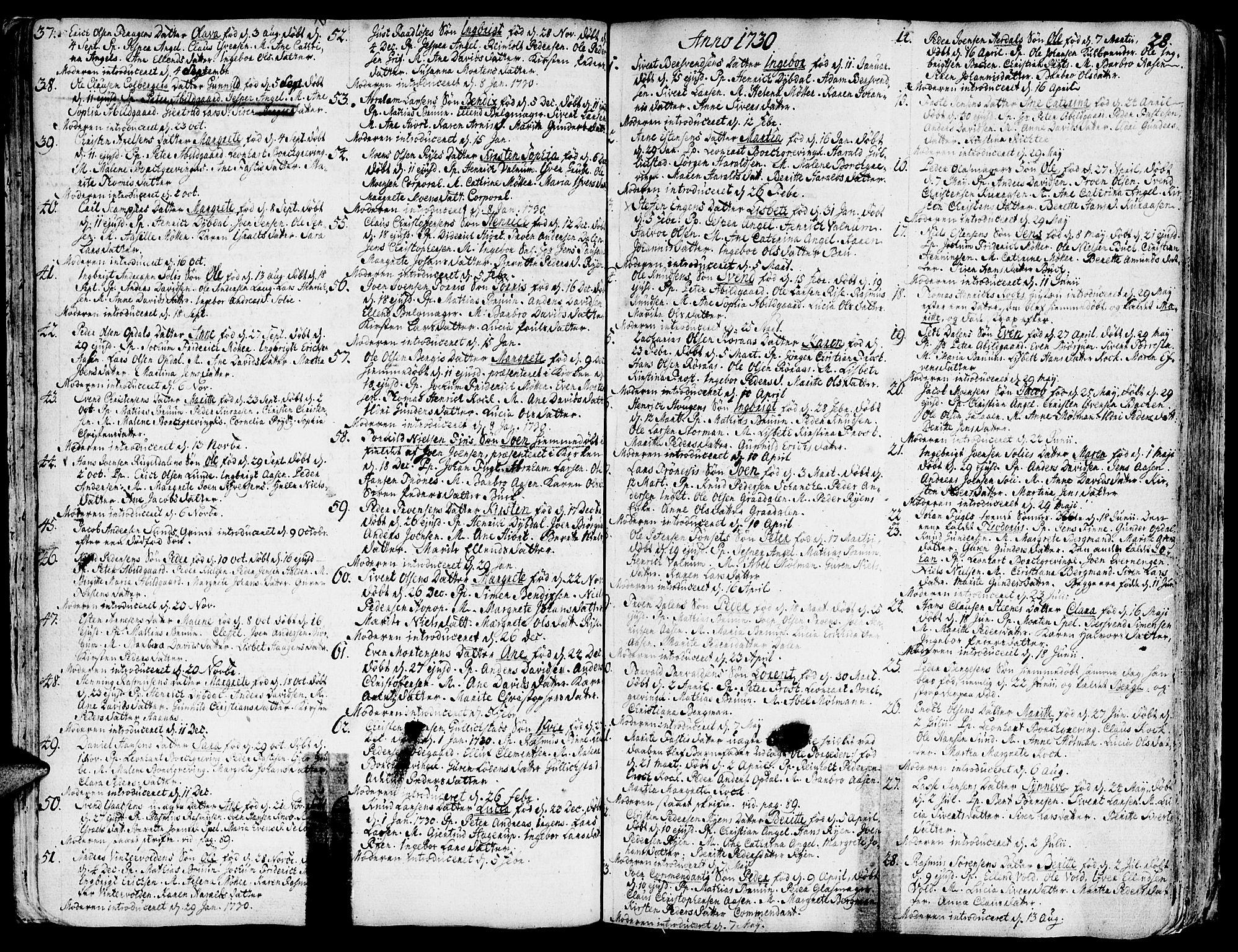 SAT, Ministerialprotokoller, klokkerbøker og fødselsregistre - Sør-Trøndelag, 681/L0925: Ministerialbok nr. 681A03, 1727-1766, s. 28