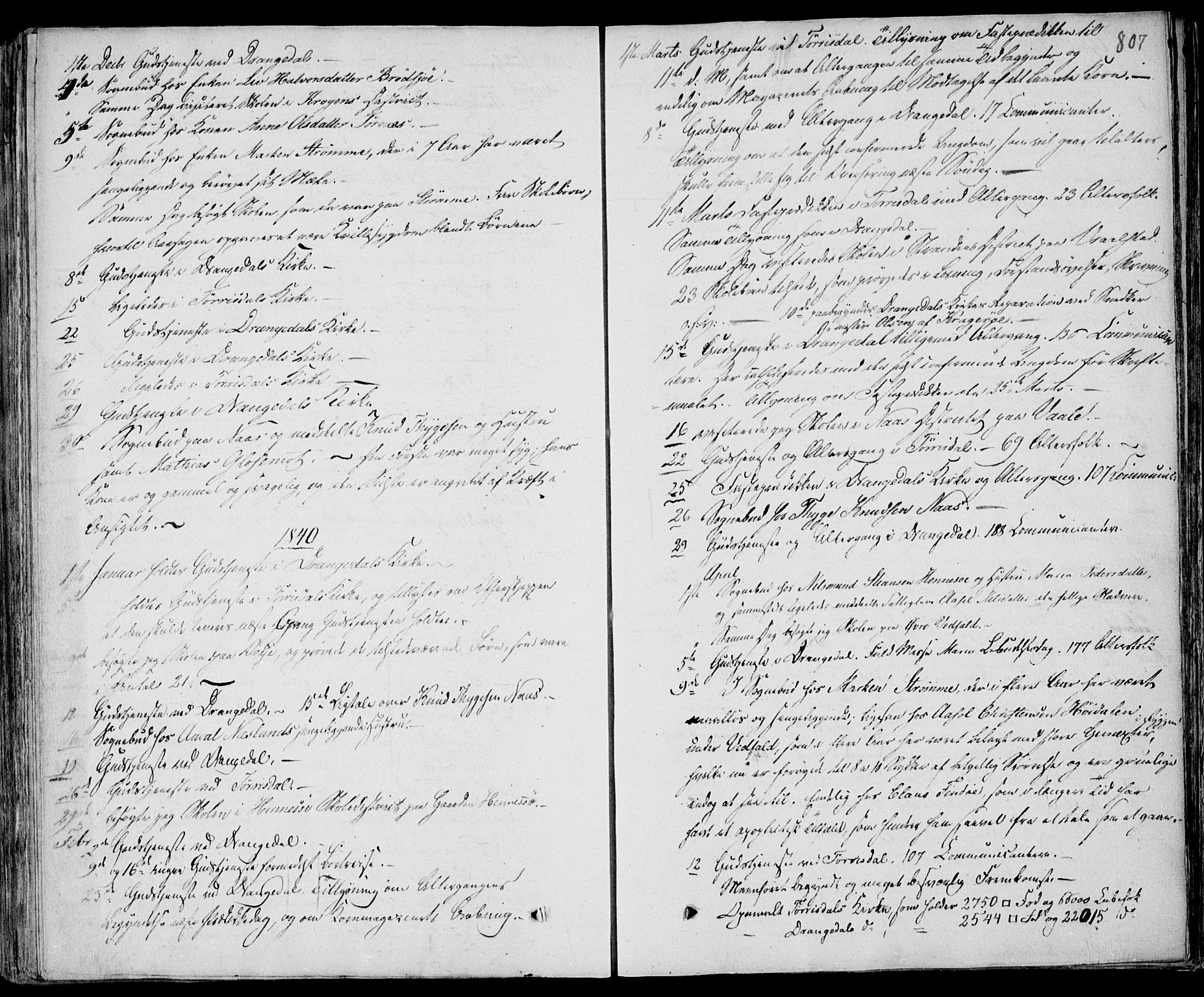 SAKO, Drangedal kirkebøker, F/Fa/L0007b: Ministerialbok nr. 7b, 1837-1856, s. 807