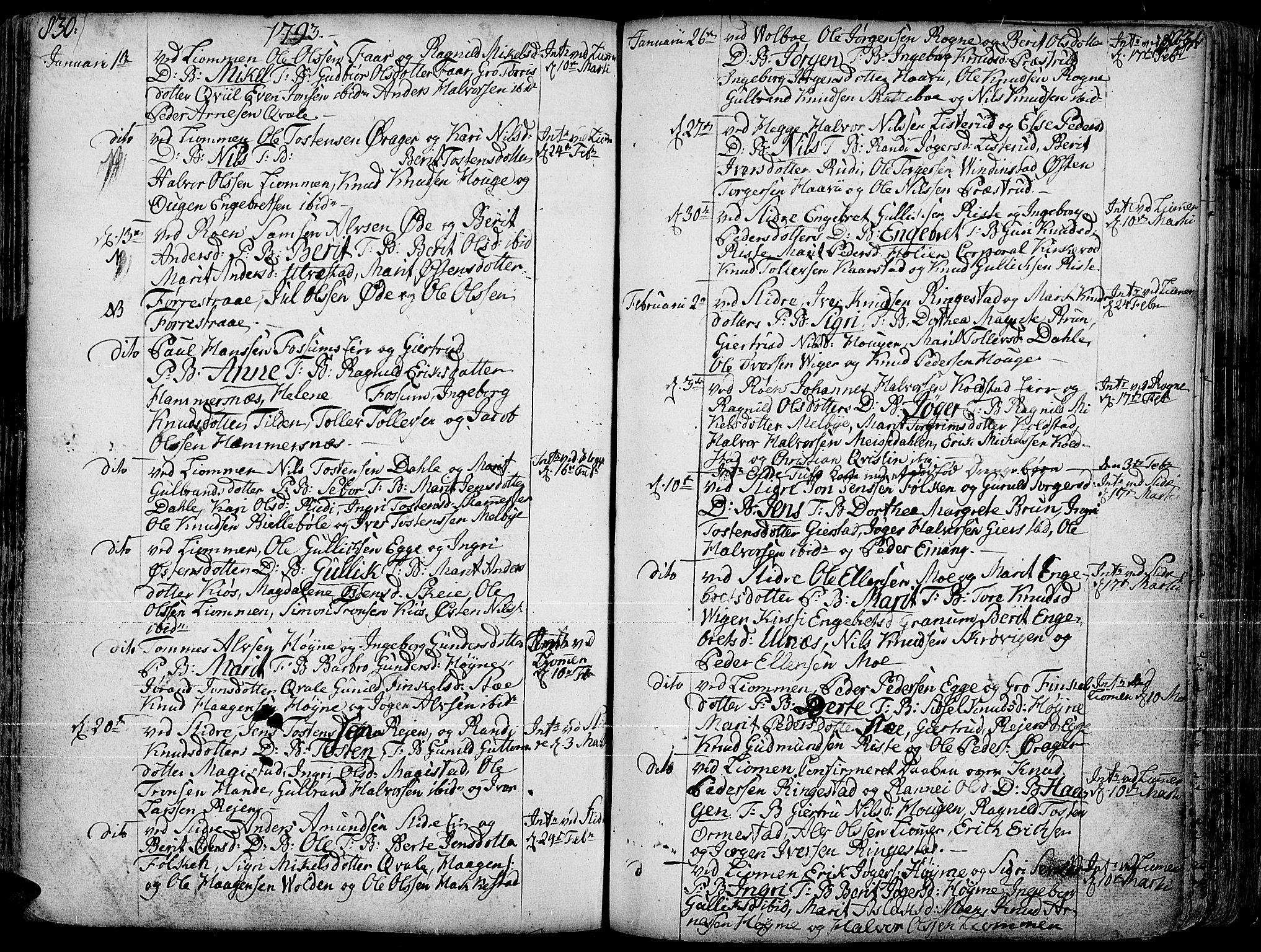 SAH, Slidre prestekontor, Ministerialbok nr. 1, 1724-1814, s. 830-831