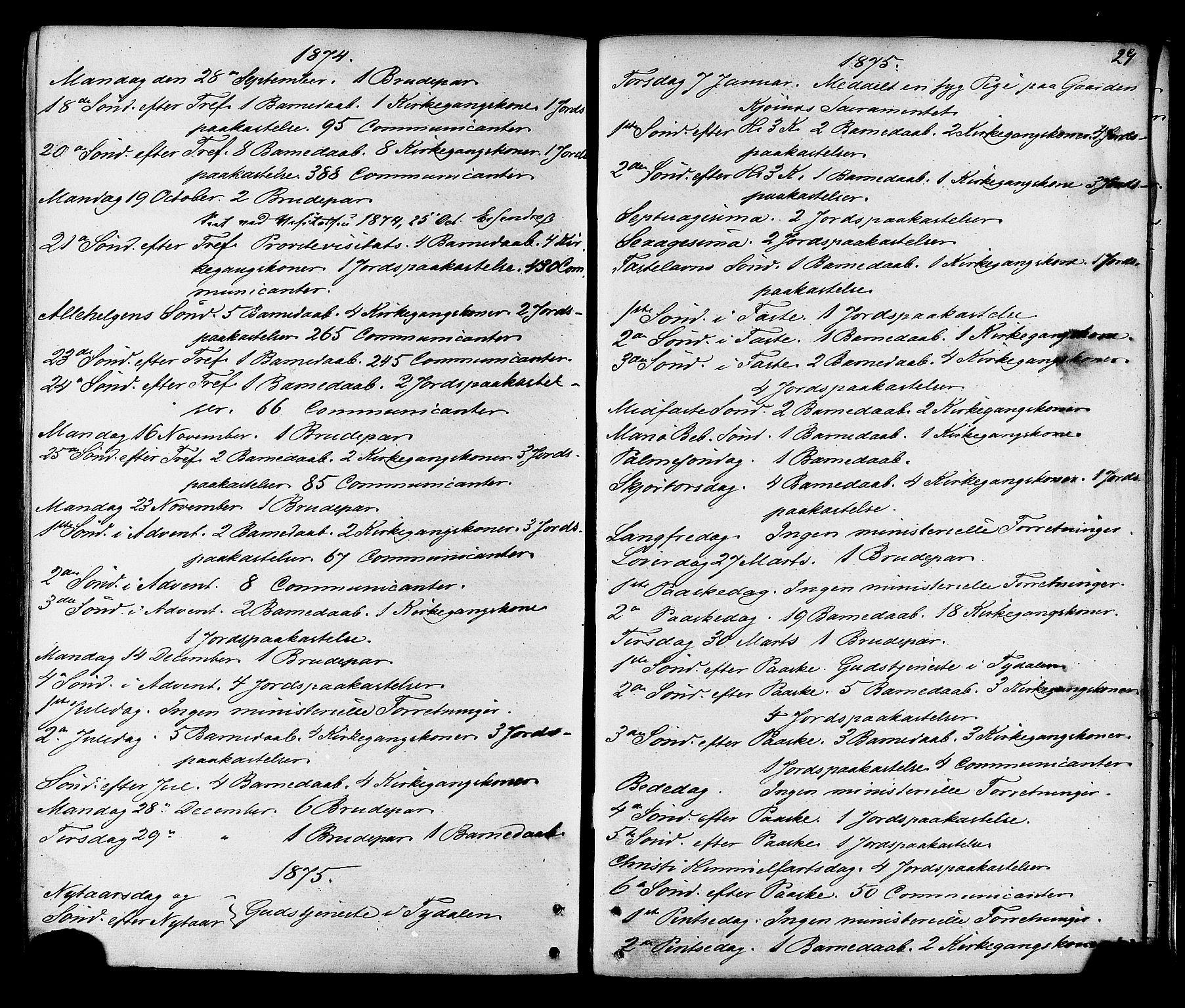 SAT, Ministerialprotokoller, klokkerbøker og fødselsregistre - Sør-Trøndelag, 695/L1147: Ministerialbok nr. 695A07, 1860-1877, s. 29
