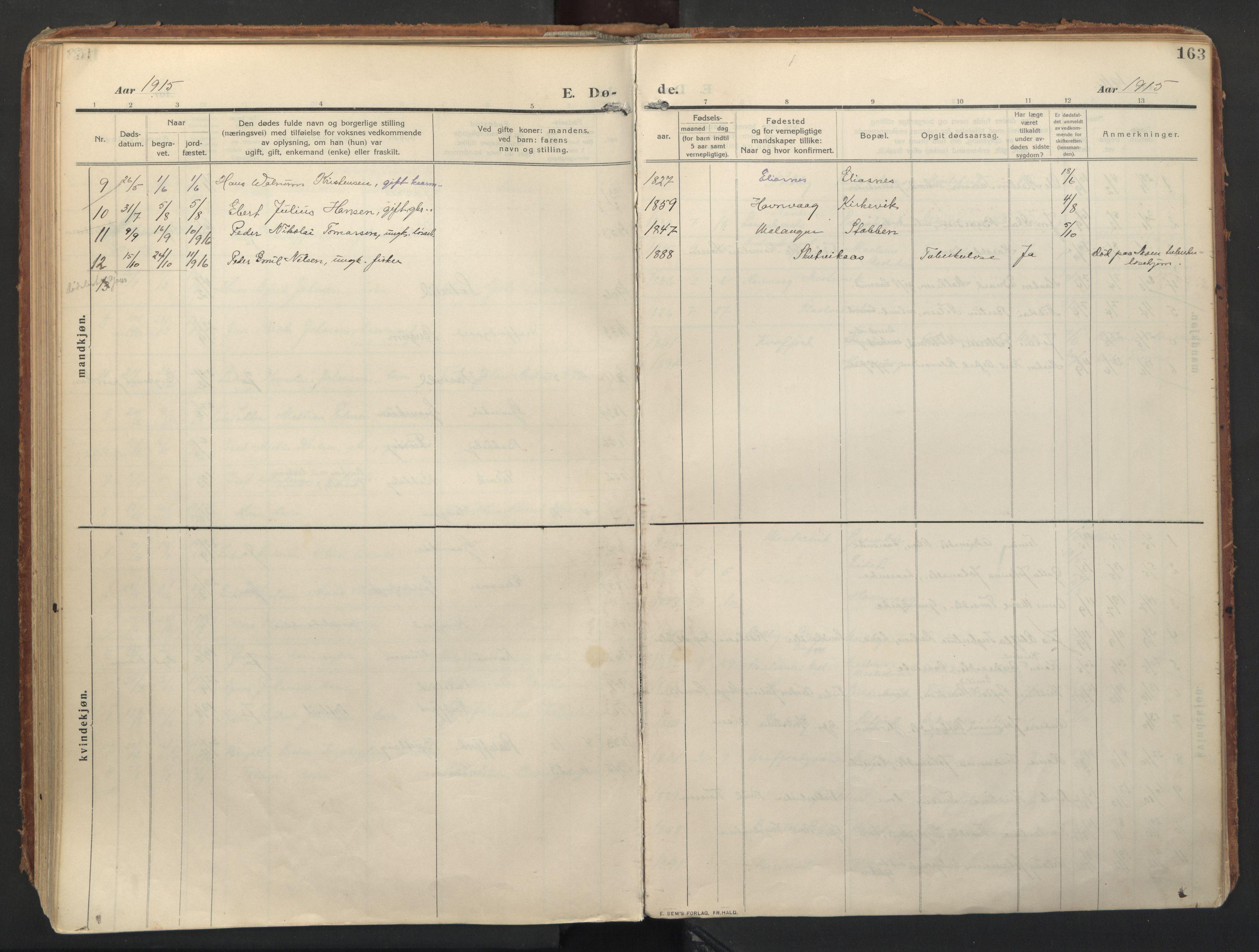SATØ, Balsfjord sokneprestembete, Ministerialbok nr. 8, 1910-1927, s. 163
