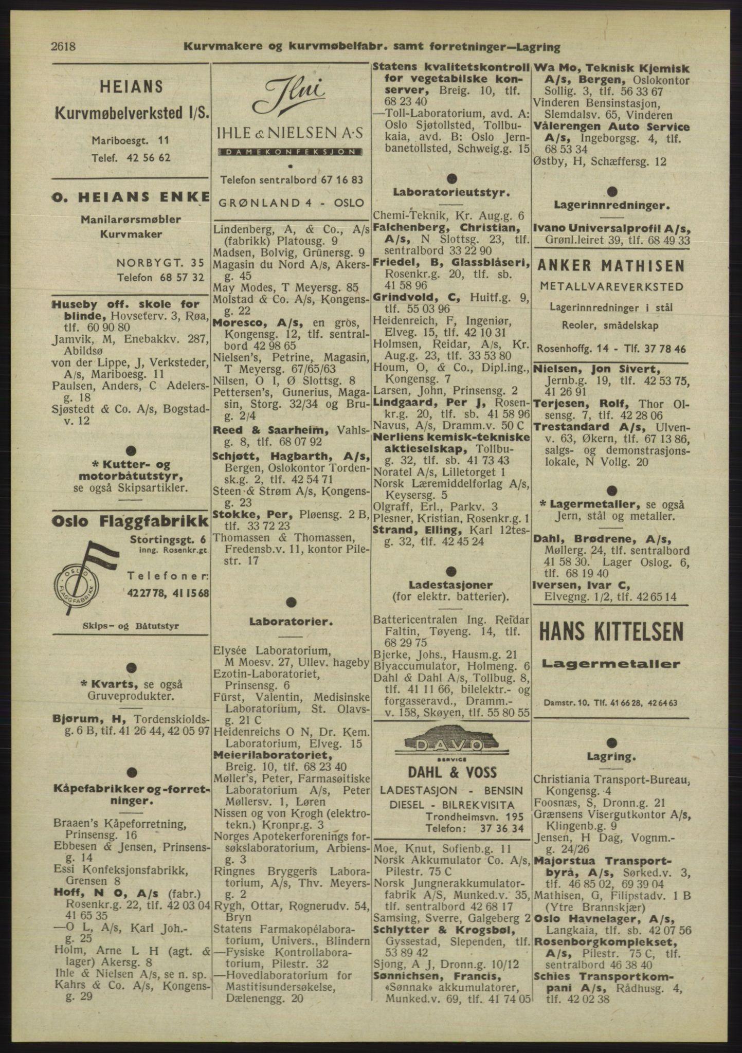 PUBL, Kristiania/Oslo adressebok, 1955, s. 2618