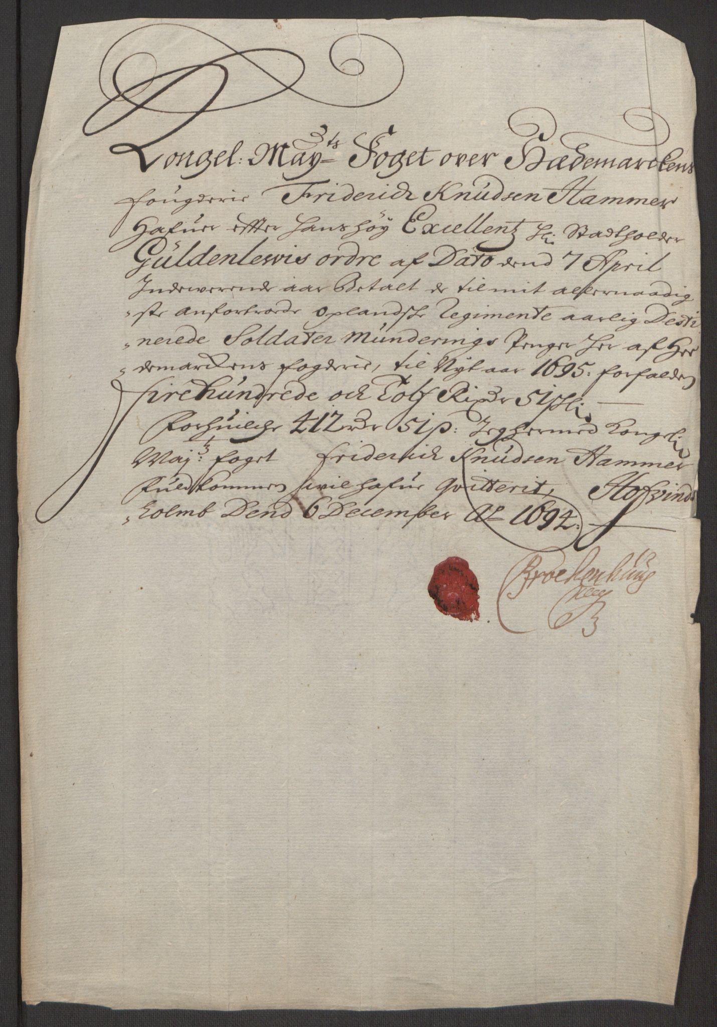 RA, Rentekammeret inntil 1814, Reviderte regnskaper, Fogderegnskap, R16/L1035: Fogderegnskap Hedmark, 1694, s. 110