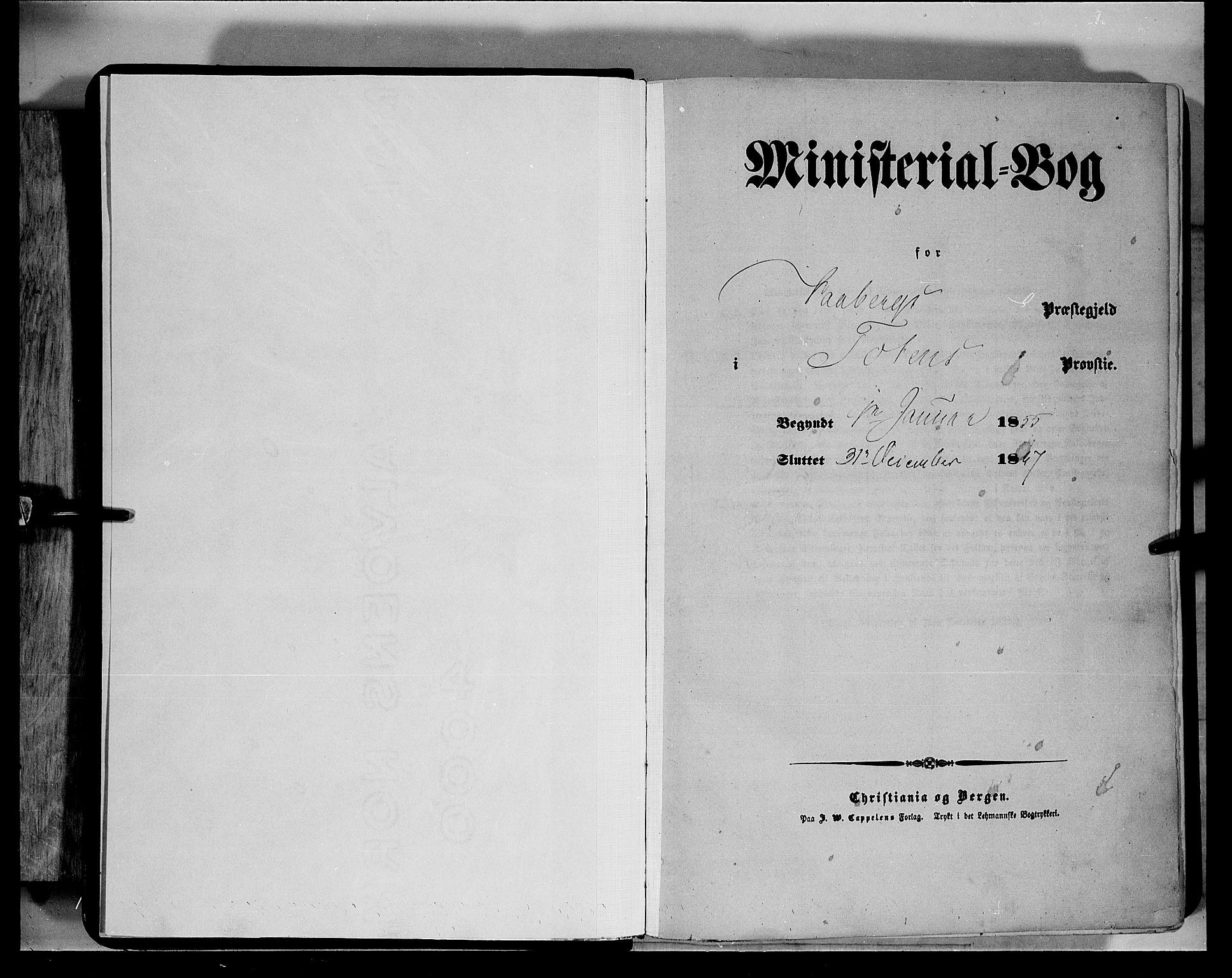 SAH, Fåberg prestekontor, Ministerialbok nr. 6A, 1855-1867
