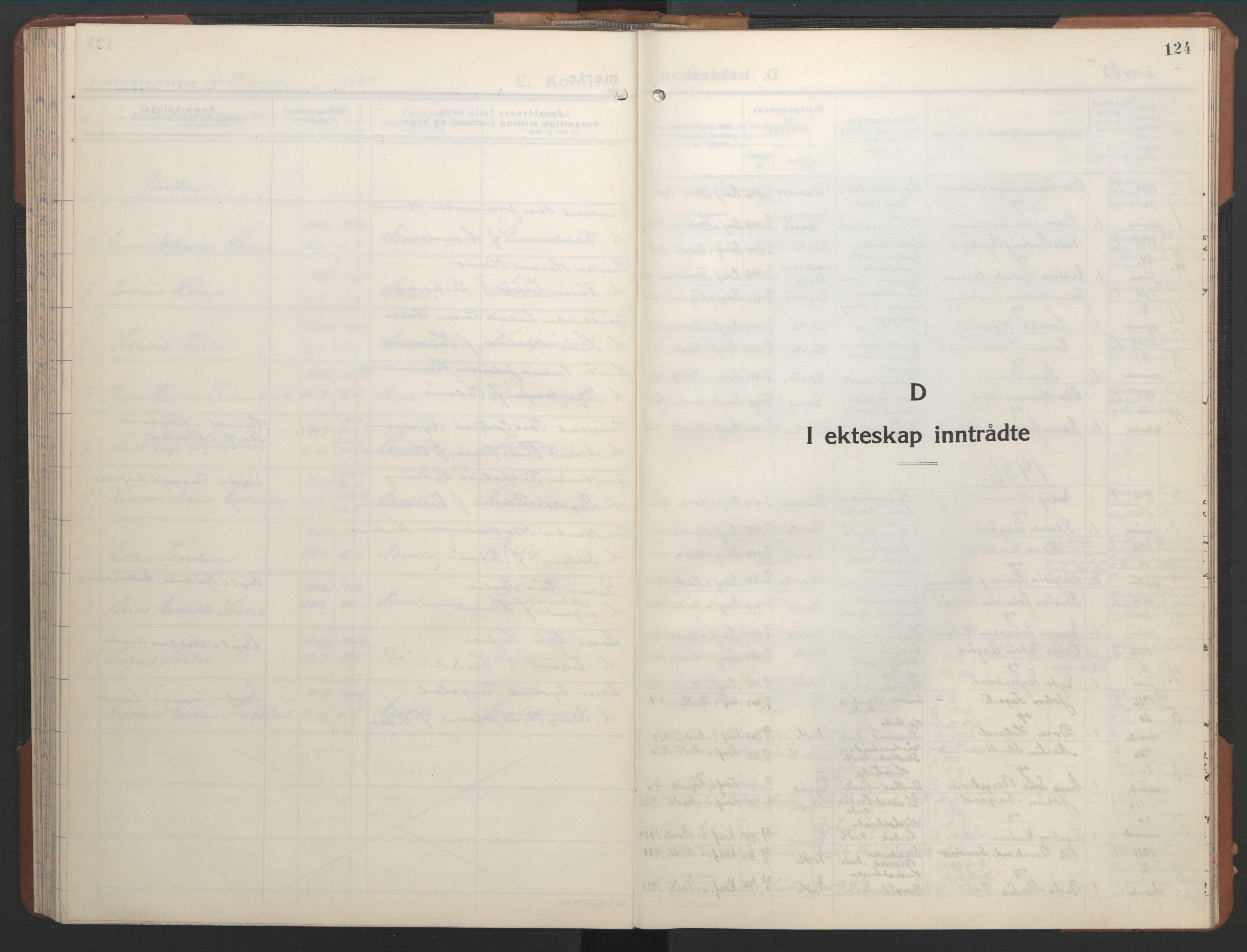 SAT, Ministerialprotokoller, klokkerbøker og fødselsregistre - Nord-Trøndelag, 755/L0500: Klokkerbok nr. 755C01, 1920-1962, s. 124