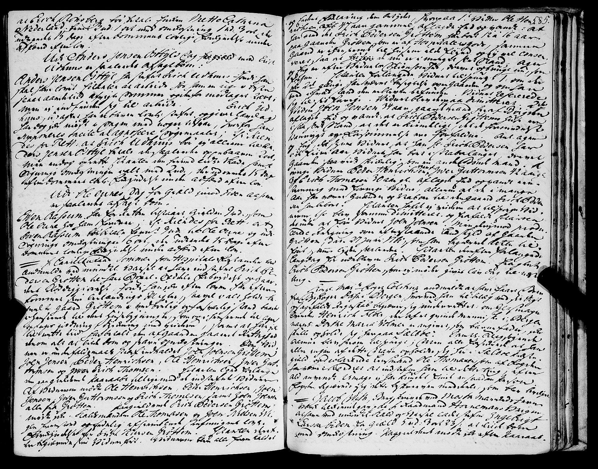 SAT, Stjør- og Verdal sorenskriveri, 1/1Aa/L0012: Tingbok, 1753-1762, s. 584b-585a