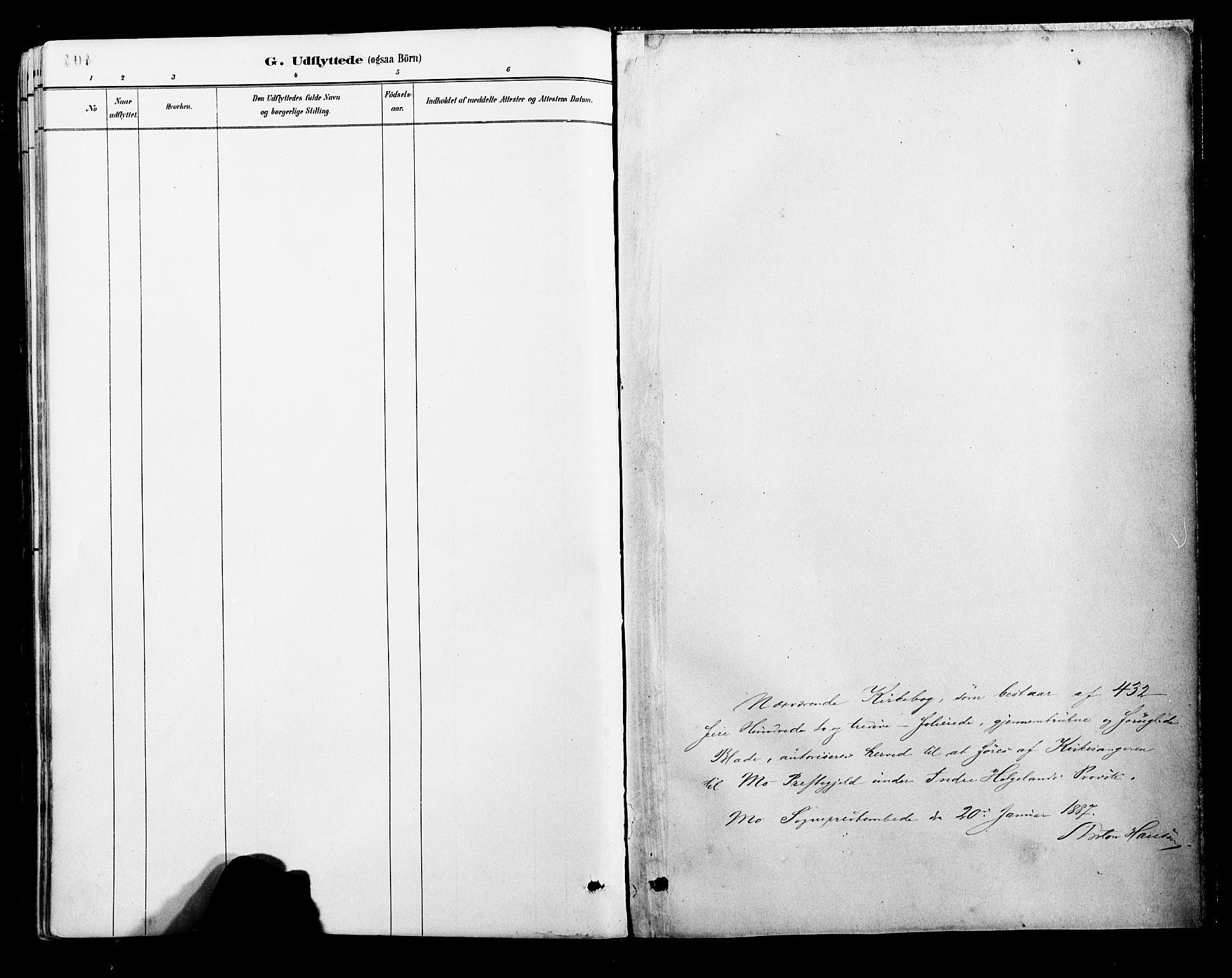SAT, Ministerialprotokoller, klokkerbøker og fødselsregistre - Nordland, 827/L0421: Klokkerbok nr. 827C10, 1887-1906