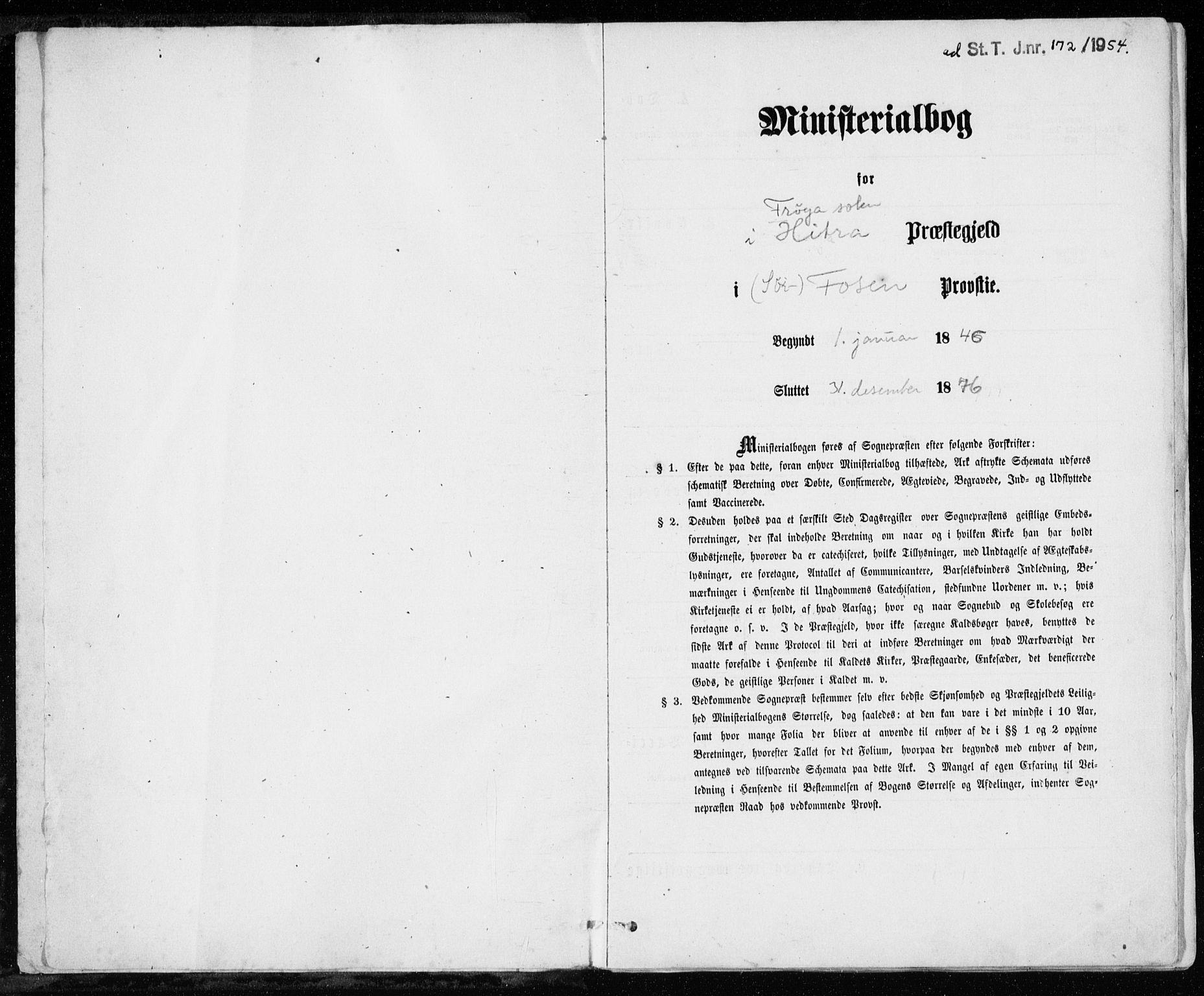 SAT, Ministerialprotokoller, klokkerbøker og fødselsregistre - Sør-Trøndelag, 640/L0576: Ministerialbok nr. 640A01, 1846-1876