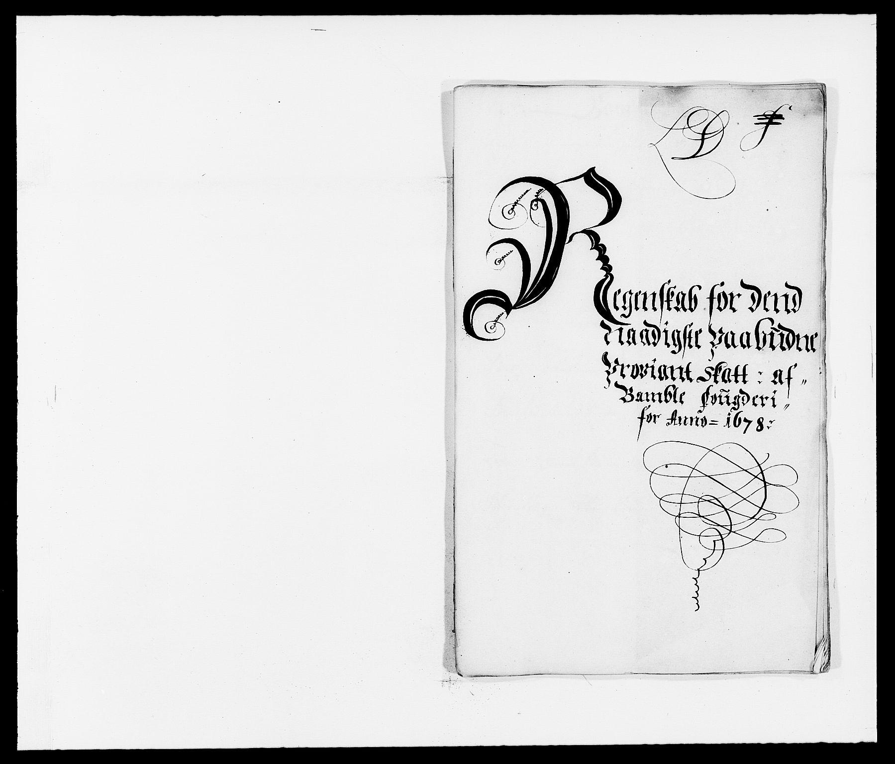 RA, Rentekammeret inntil 1814, Reviderte regnskaper, Fogderegnskap, R34/L2044: Fogderegnskap Bamble, 1678-1679, s. 83
