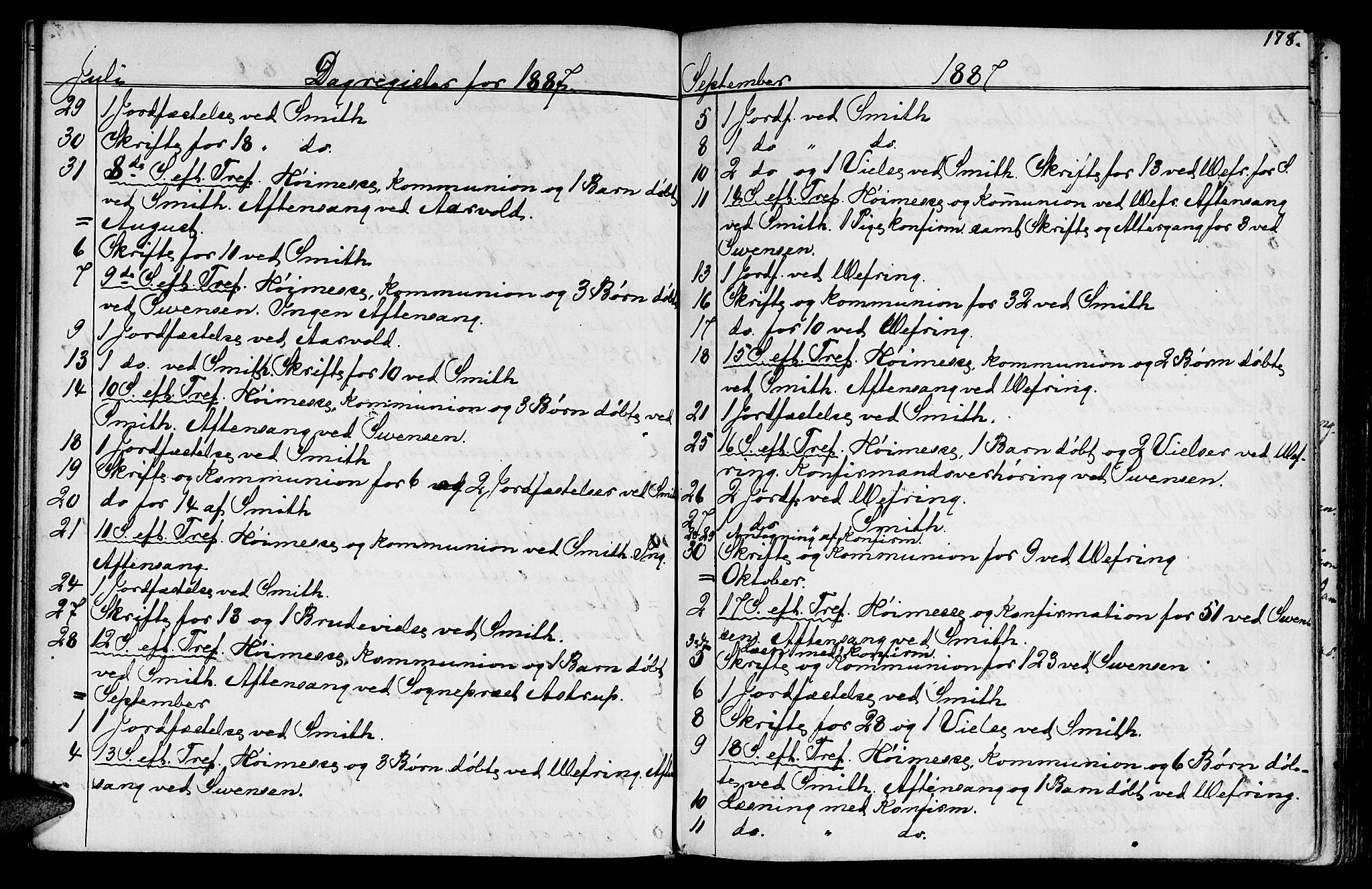 SAT, Ministerialprotokoller, klokkerbøker og fødselsregistre - Sør-Trøndelag, 602/L0142: Klokkerbok nr. 602C10, 1872-1894, s. 178