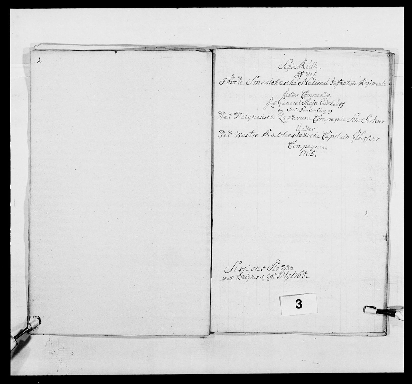 RA, Kommanderende general (KG I) med Det norske krigsdirektorium, E/Ea/L0496: 1. Smålenske regiment, 1765-1767, s. 24