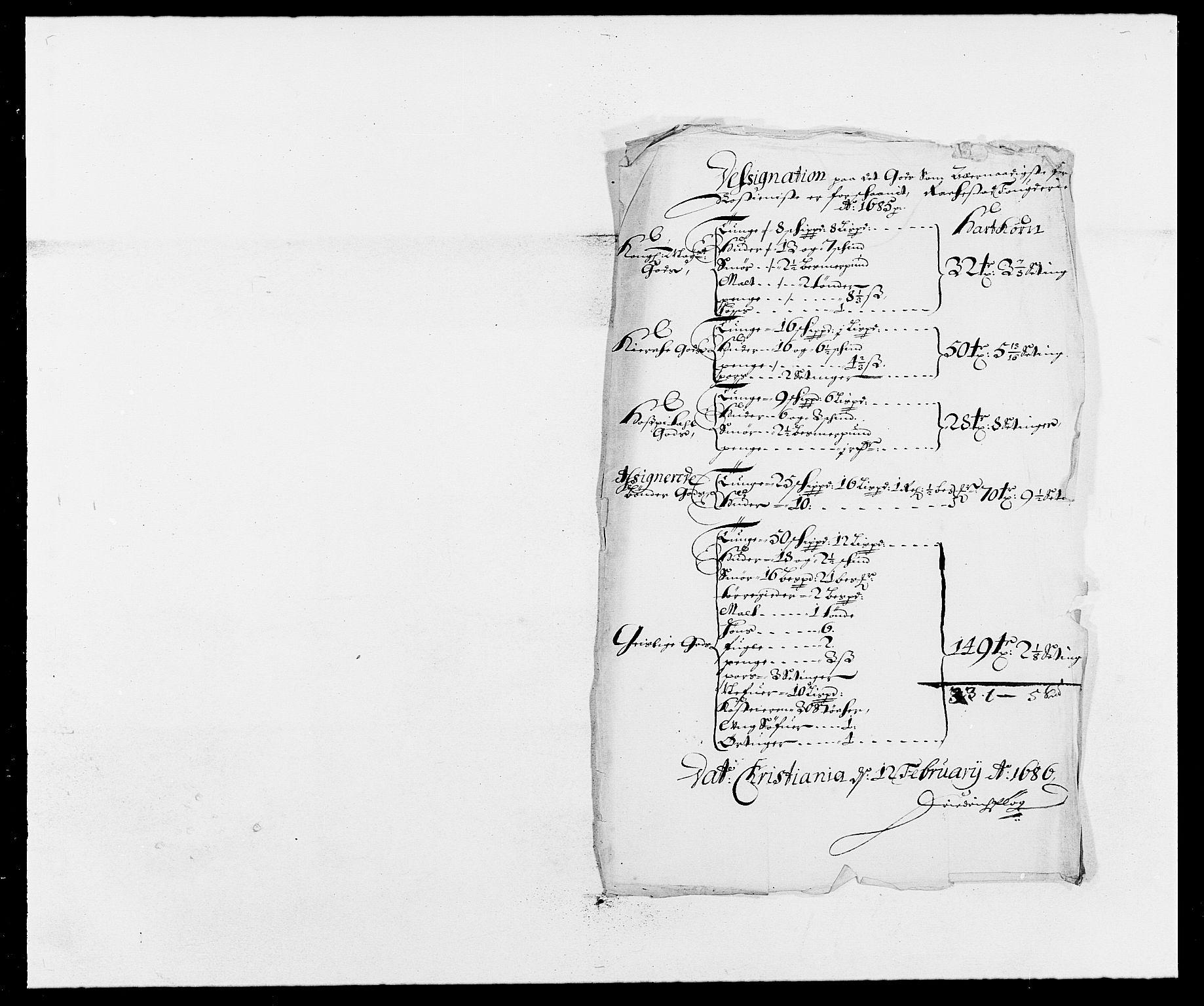RA, Rentekammeret inntil 1814, Reviderte regnskaper, Fogderegnskap, R05/L0275: Fogderegnskap Rakkestad, 1685-1686, s. 135