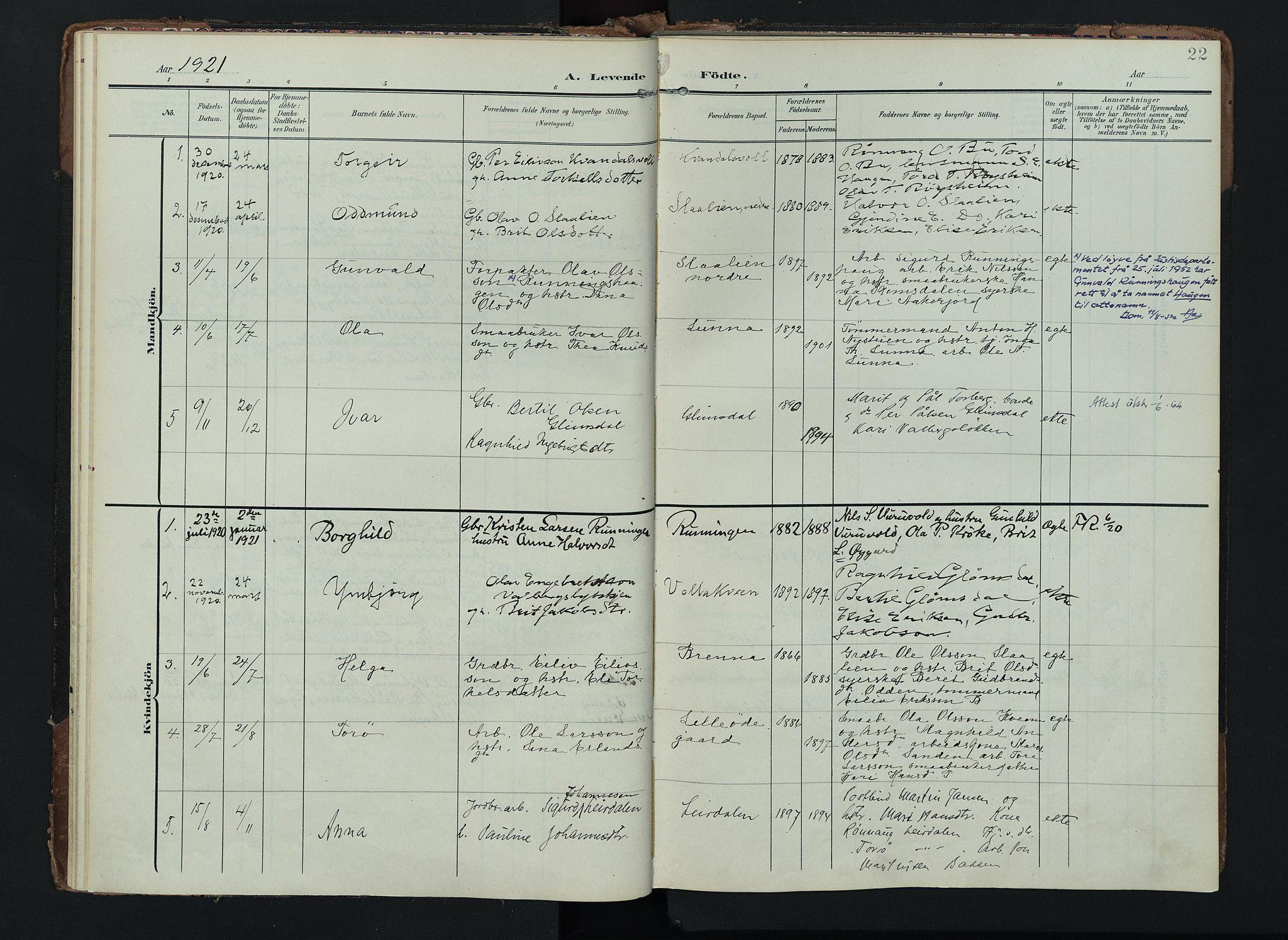 SAH, Lom prestekontor, K/L0012: Ministerialbok nr. 12, 1904-1928, s. 22
