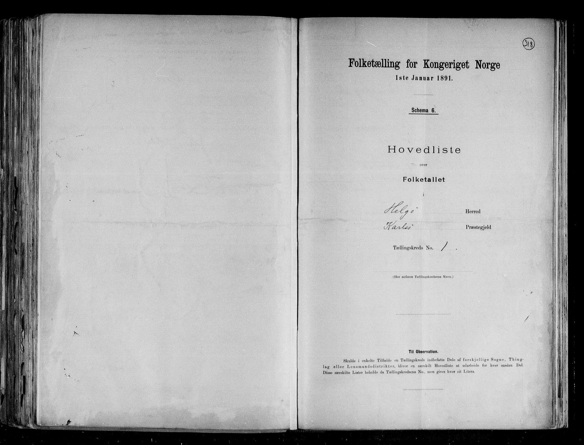 RA, Folketelling 1891 for 1935 Helgøy herred, 1891, s. 4
