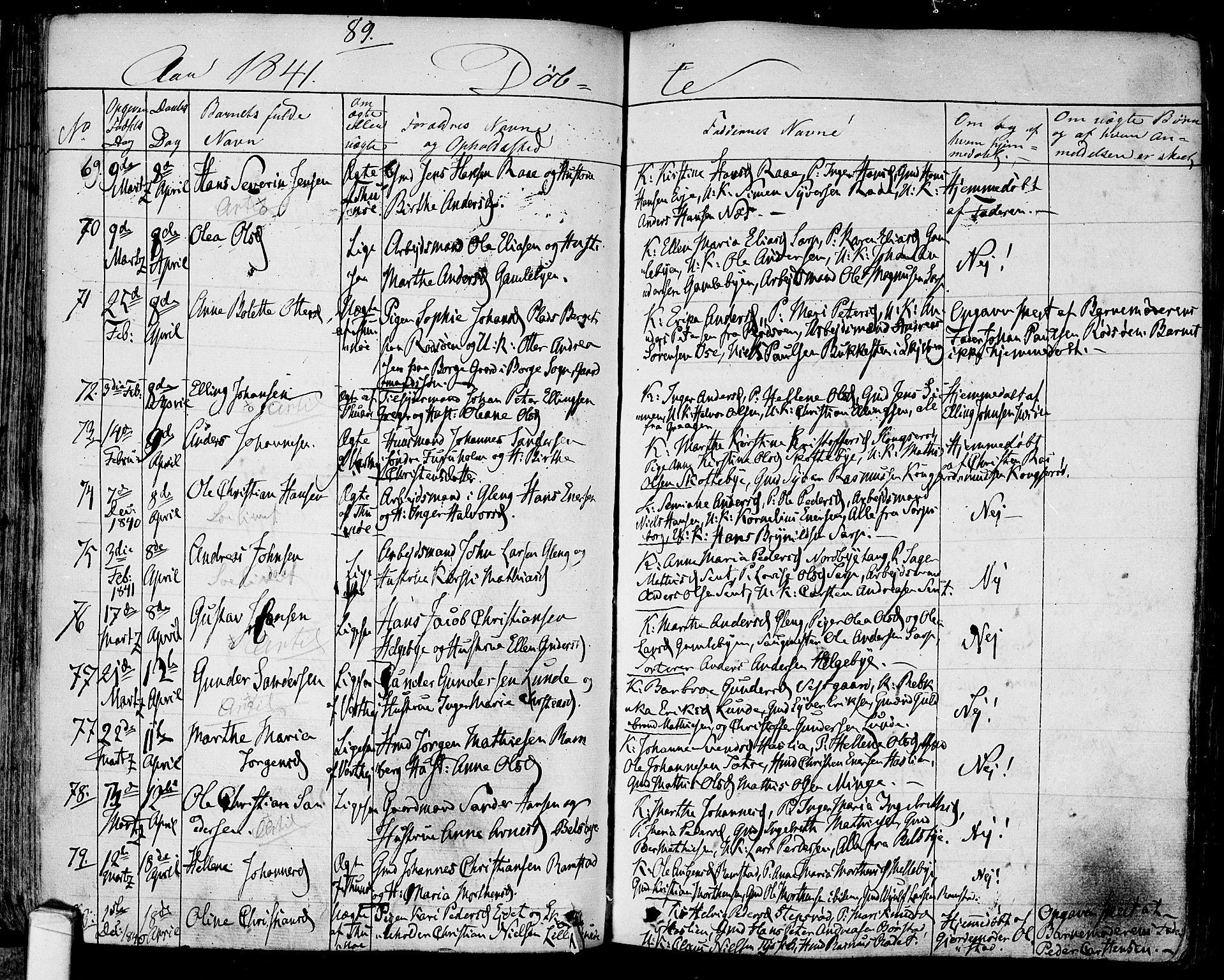 SAO, Tune prestekontor Kirkebøker, F/Fa/L0008: Ministerialbok nr. 8, 1837-1841, s. 89