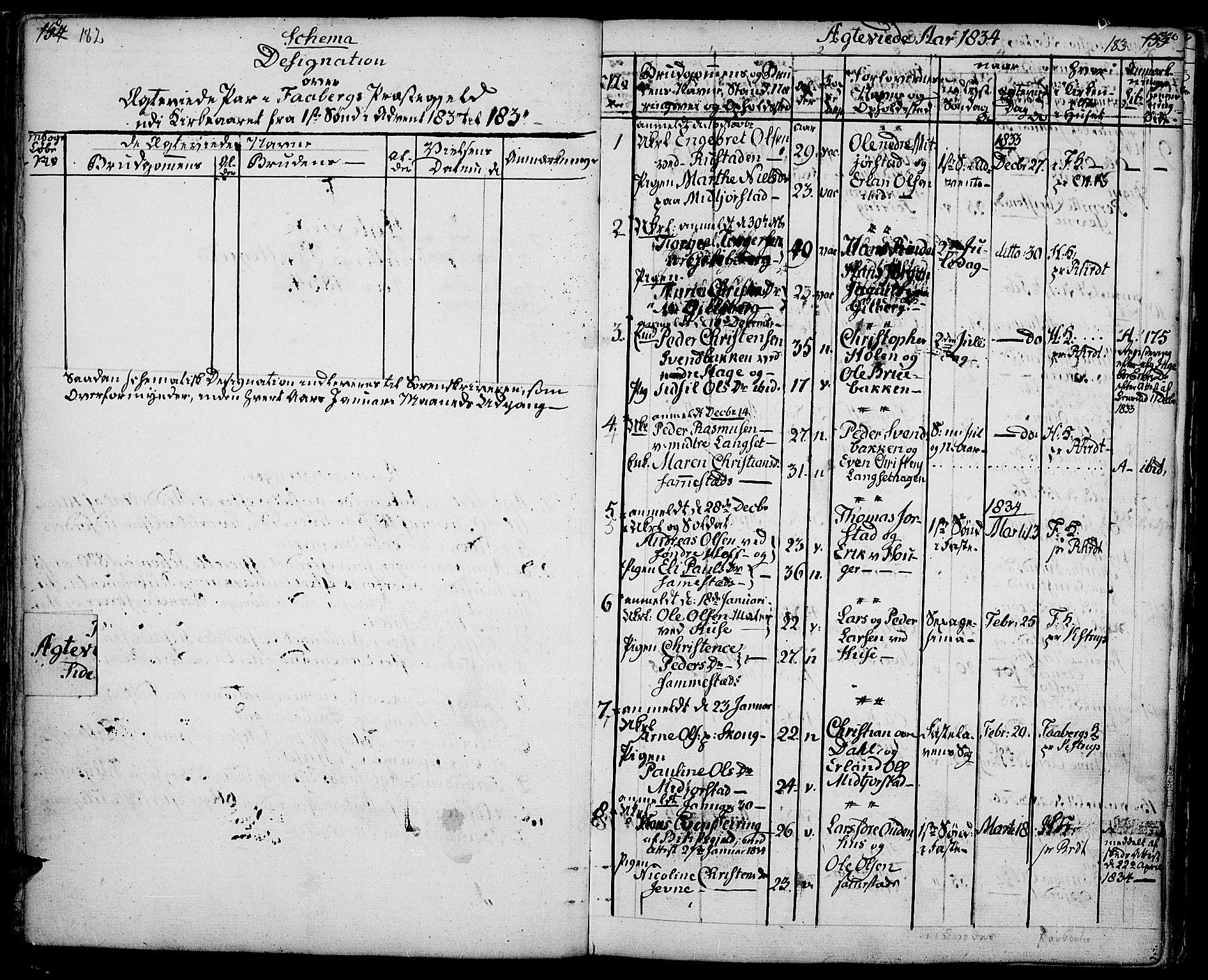SAH, Fåberg prestekontor, Ministerialbok nr. 4, 1833-1837, s. 182-183