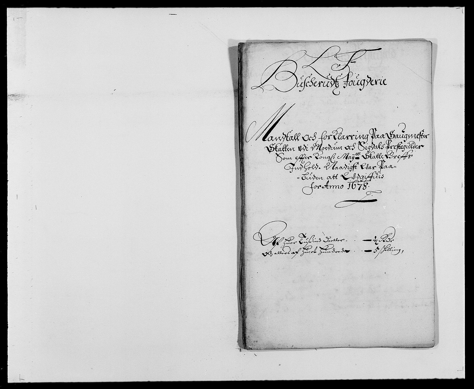 RA, Rentekammeret inntil 1814, Reviderte regnskaper, Fogderegnskap, R25/L1674: Fogderegnskap Buskerud, 1678-1681, s. 140