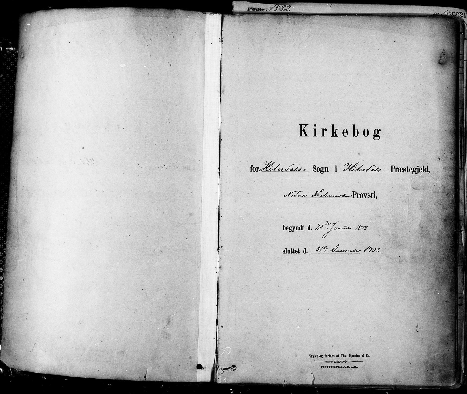 SAKO, Heddal kirkebøker, F/Fa/L0008: Ministerialbok nr. I 8, 1878-1903