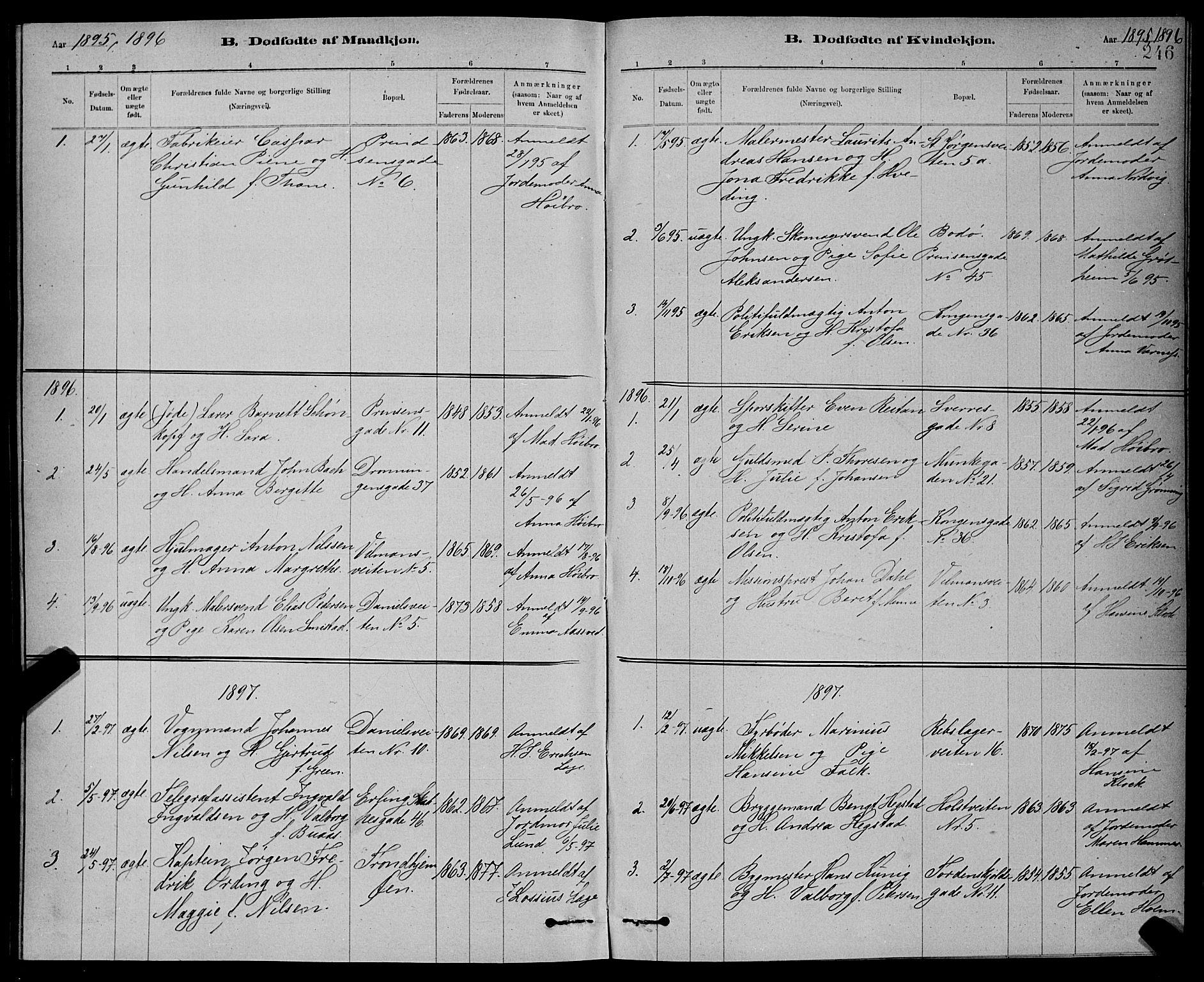SAT, Ministerialprotokoller, klokkerbøker og fødselsregistre - Sør-Trøndelag, 601/L0092: Klokkerbok nr. 601C10, 1884-1897, s. 246