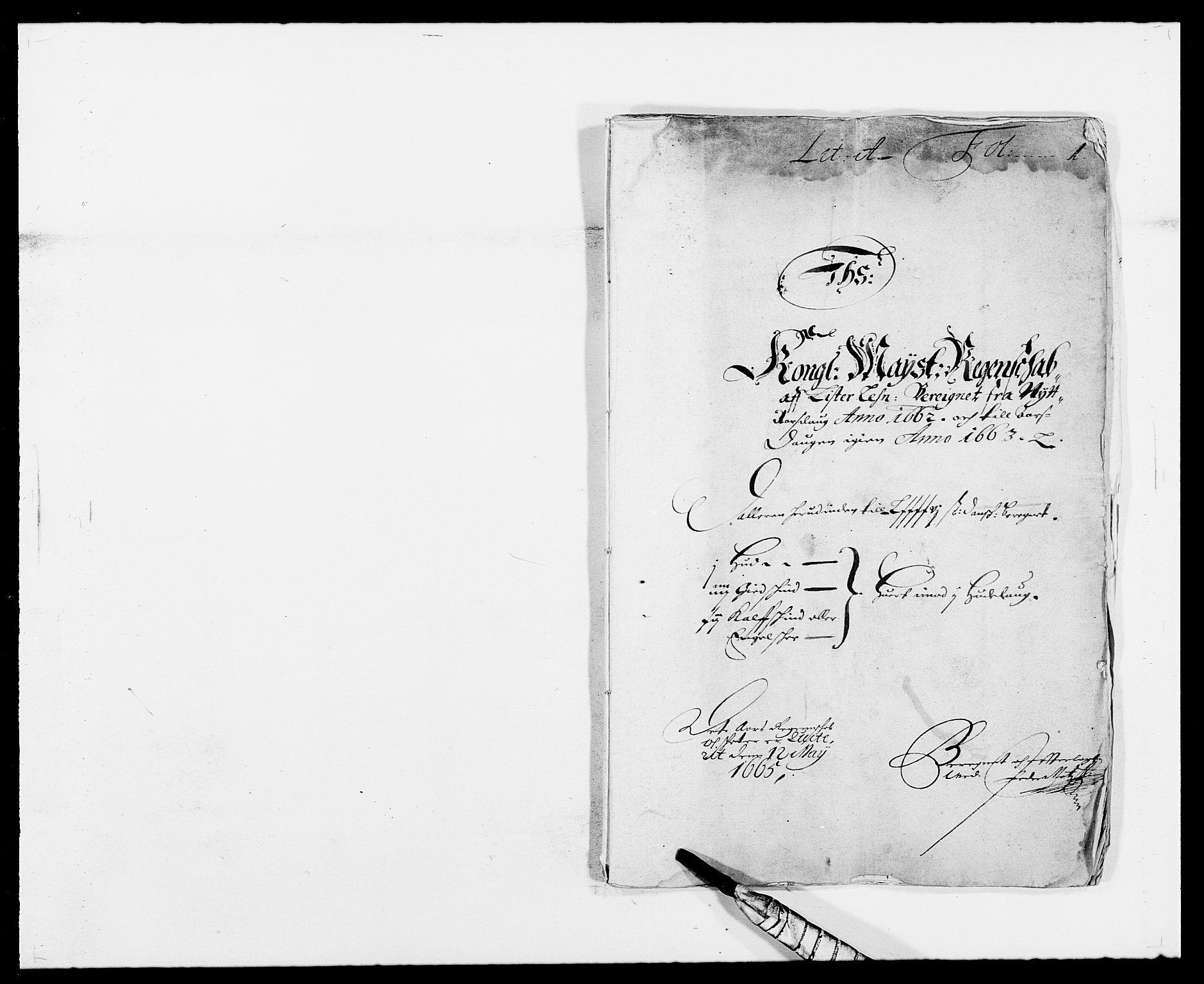 RA, Rentekammeret inntil 1814, Reviderte regnskaper, Fogderegnskap, R41/L2522: Fogderegnskap Lista, 1662, s. 1