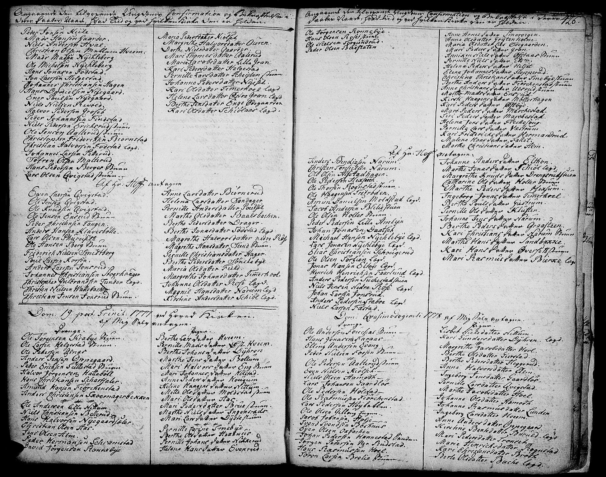 SAH, Toten prestekontor, Ministerialbok nr. 6, 1773-1793, s. 426