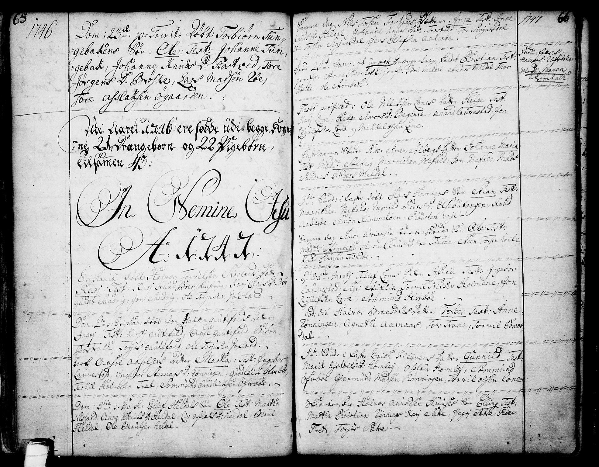 SAKO, Drangedal kirkebøker, F/Fa/L0002: Ministerialbok nr. 2, 1733-1753, s. 65-66