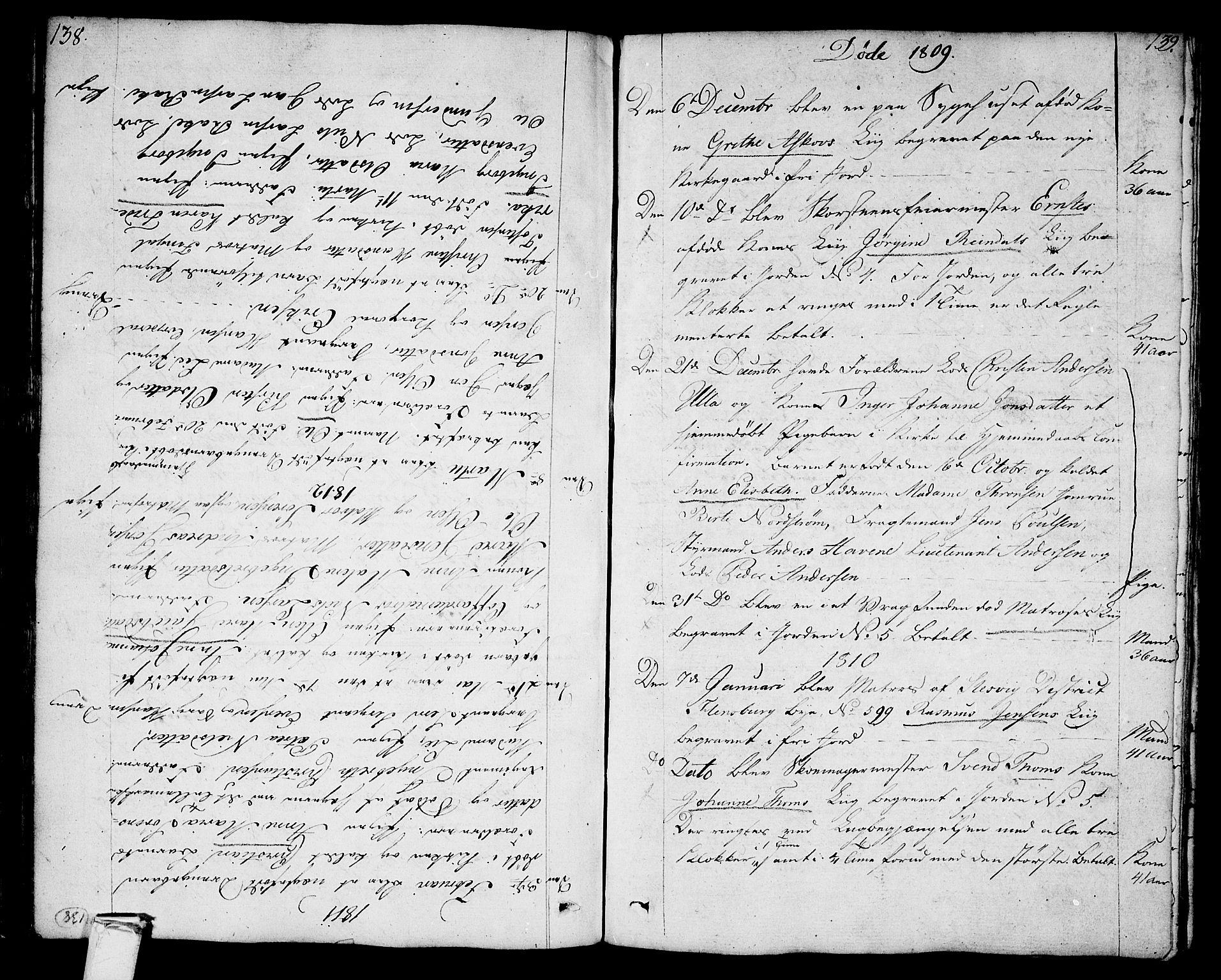 SAKO, Stavern kirkebøker, F/Fa/L0004: Ministerialbok nr. 4, 1809-1816, s. 138-139