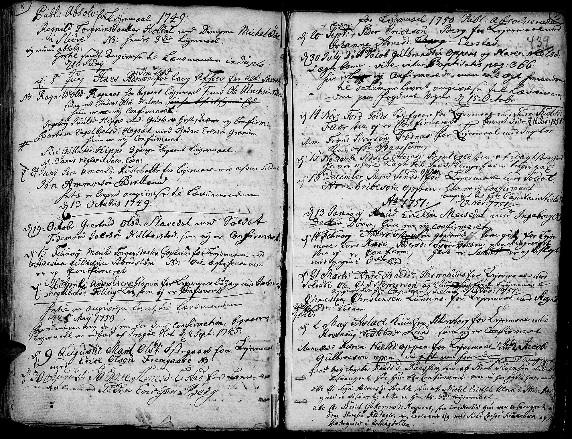 SAH, Aurdal prestekontor, Ministerialbok nr. 4, 1730-1762, s. 18-19