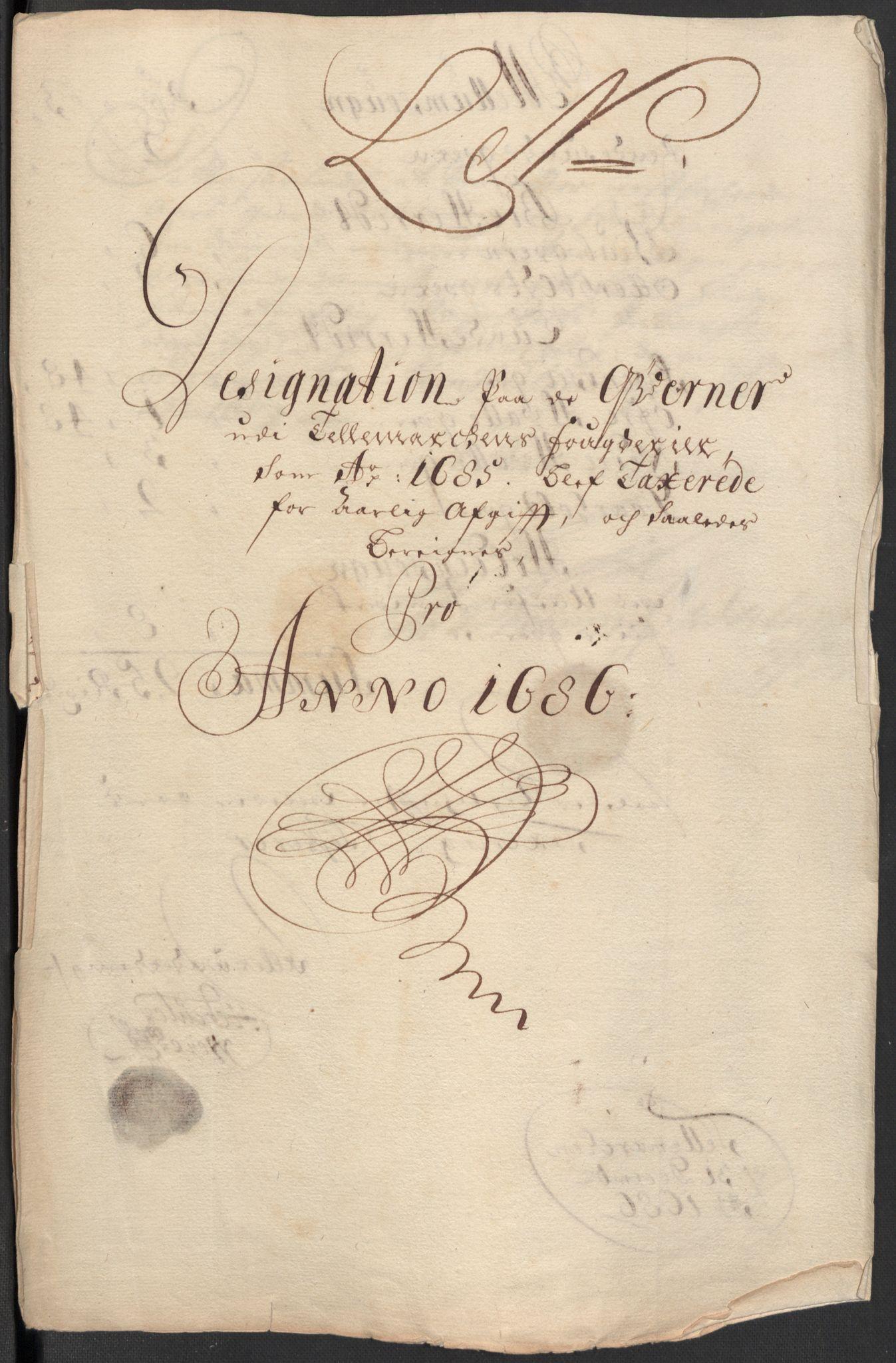 RA, Rentekammeret inntil 1814, Reviderte regnskaper, Fogderegnskap, R35/L2083: Fogderegnskap Øvre og Nedre Telemark, 1686, s. 317