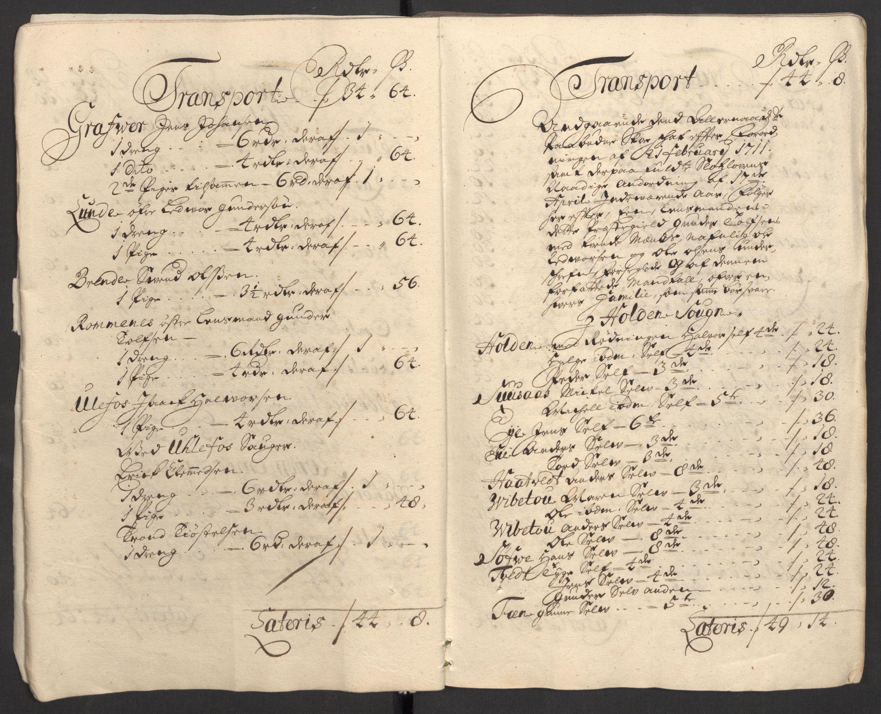 RA, Rentekammeret inntil 1814, Reviderte regnskaper, Fogderegnskap, R36/L2121: Fogderegnskap Øvre og Nedre Telemark og Bamble, 1711, s. 11