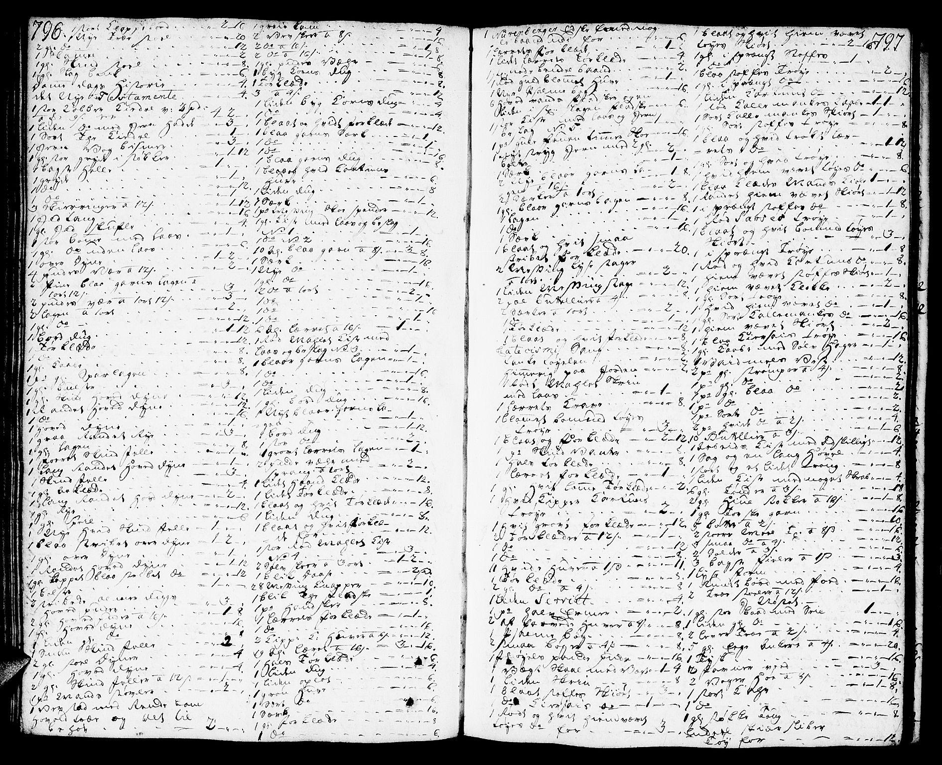 SAT, Molde byfogd, 3/3Aa/L0002: Skifteprotokoll, 1768-1787, s. 796-797