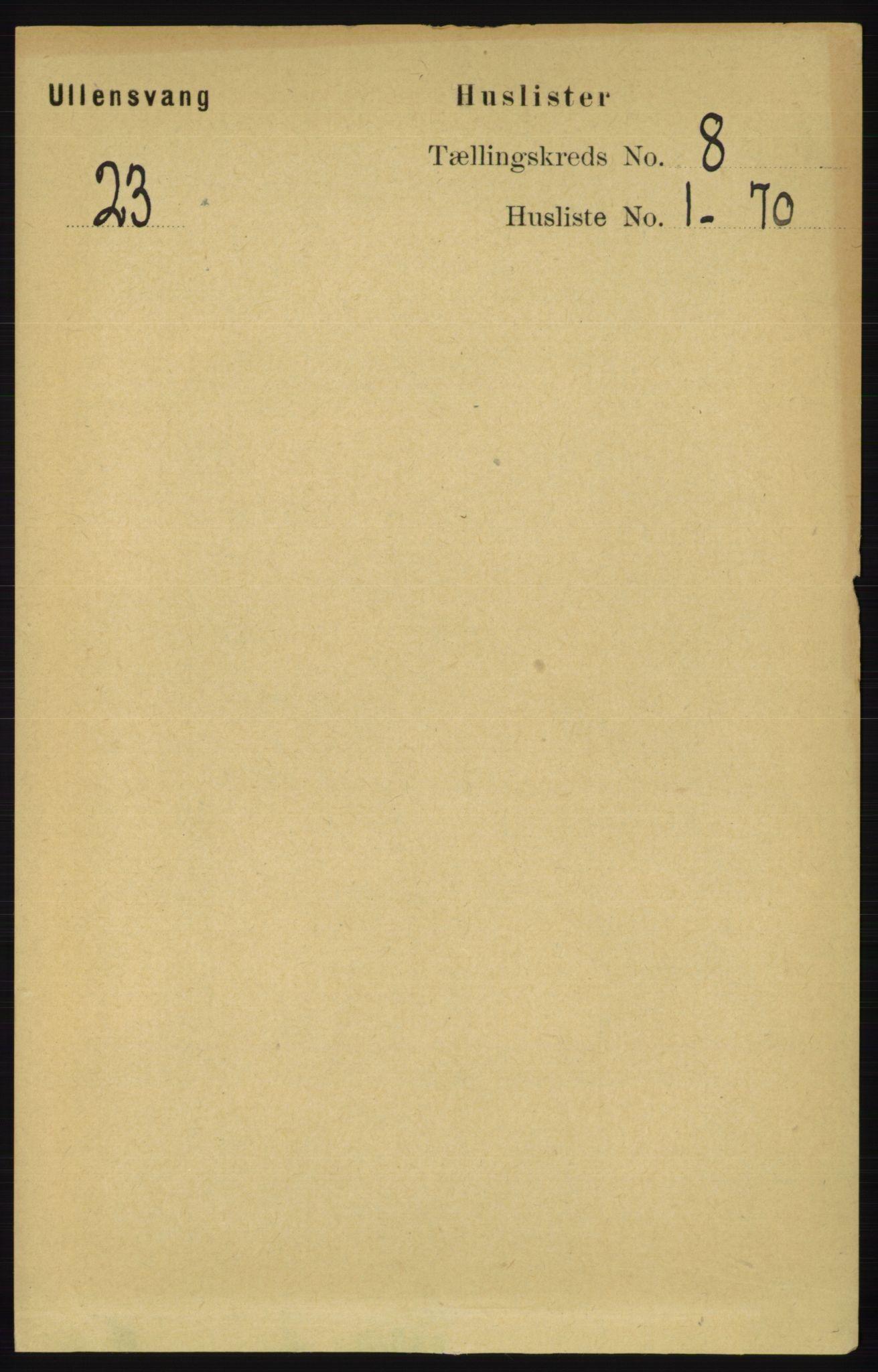 RA, Folketelling 1891 for 1230 Ullensvang herred, 1891, s. 2642
