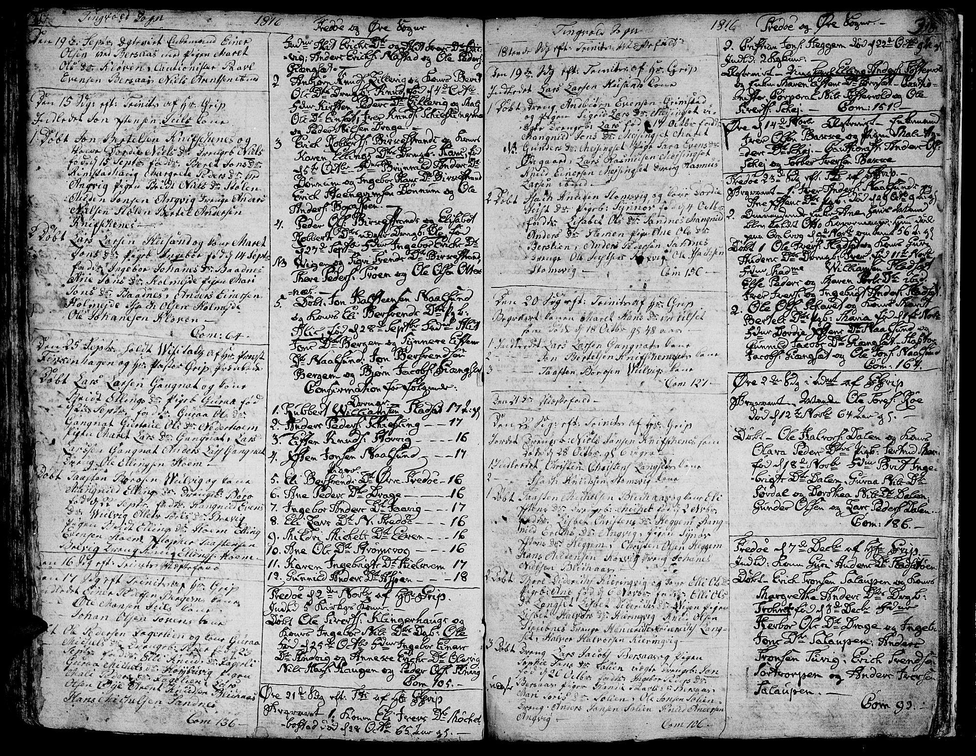 SAT, Ministerialprotokoller, klokkerbøker og fødselsregistre - Møre og Romsdal, 586/L0981: Ministerialbok nr. 586A07, 1794-1819, s. 317-318