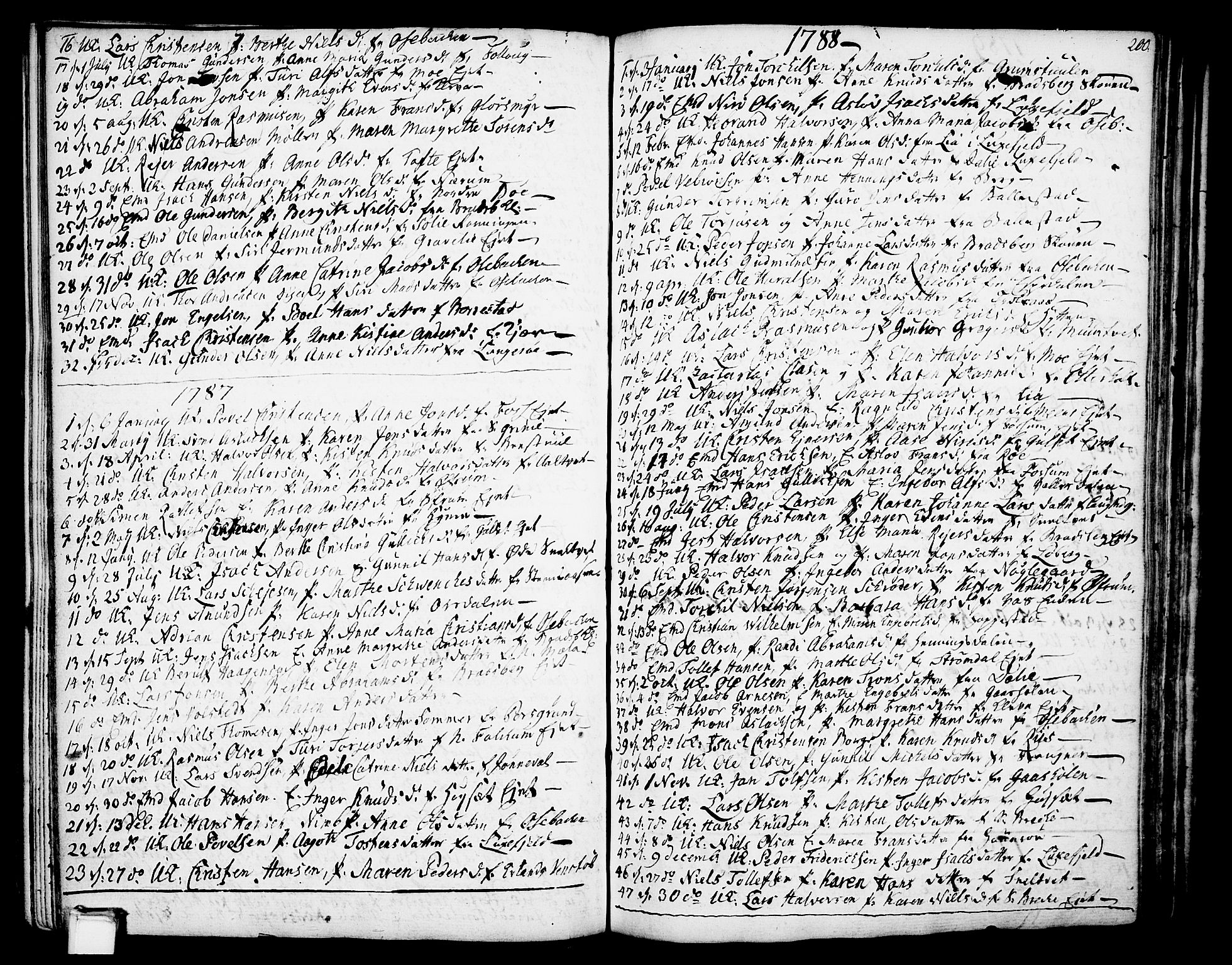 SAKO, Gjerpen kirkebøker, F/Fa/L0002: Ministerialbok nr. 2, 1747-1795, s. 200