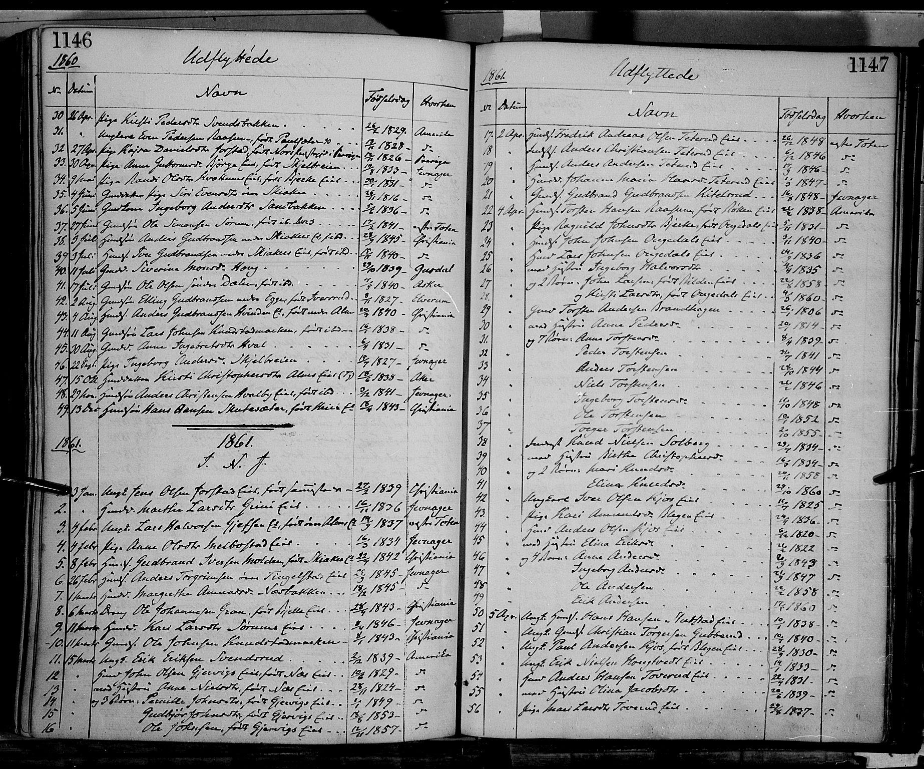 SAH, Gran prestekontor, Ministerialbok nr. 12, 1856-1874, s. 1146-1147